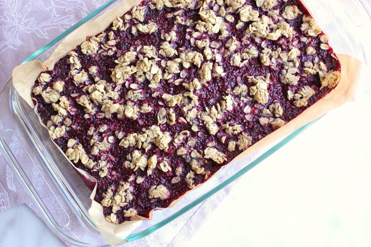 Raspberry Jam & Oats Breakfast Bars (Gluten Free) | Living Minnaly09.jpg