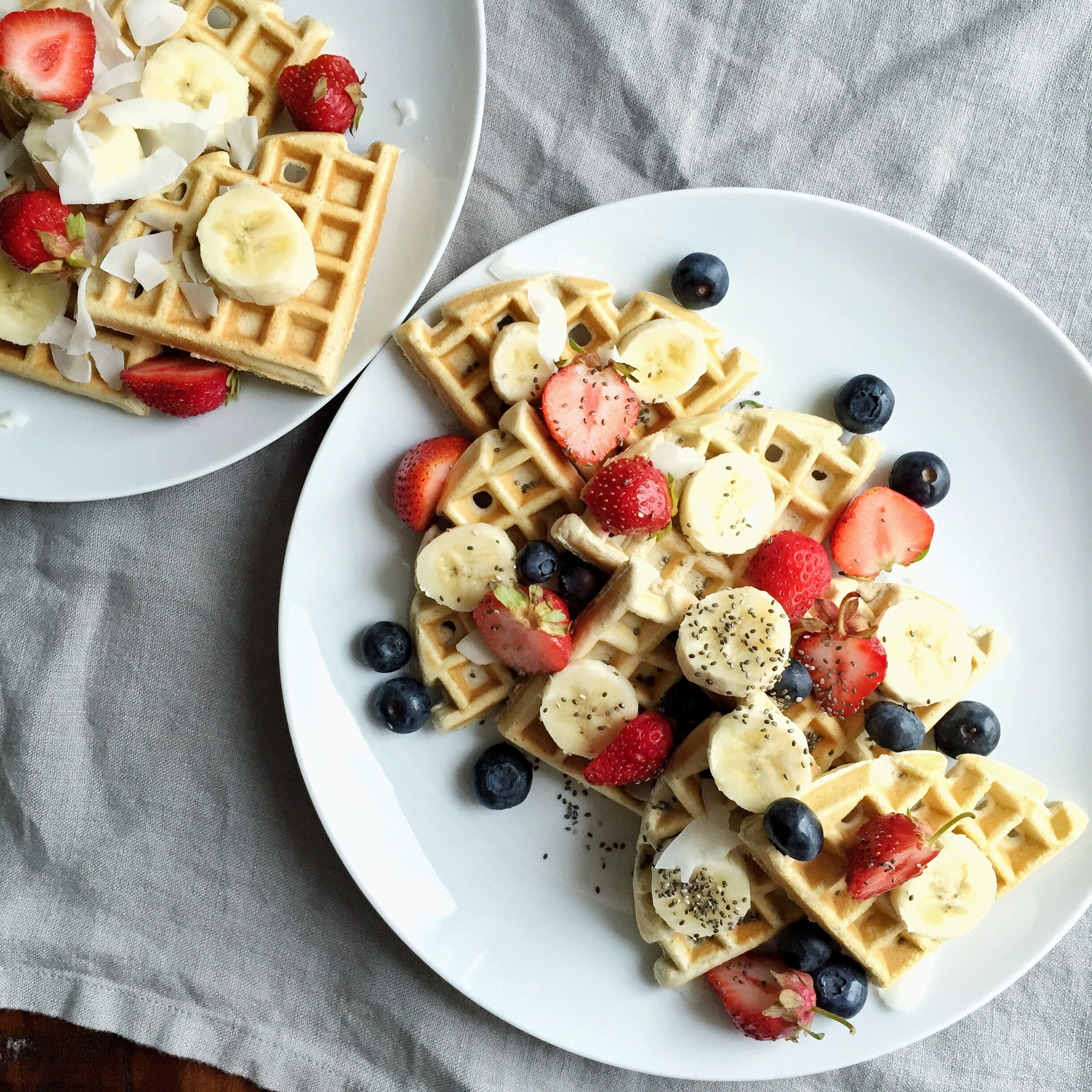 Double Protein Waffles | Living Minnaly