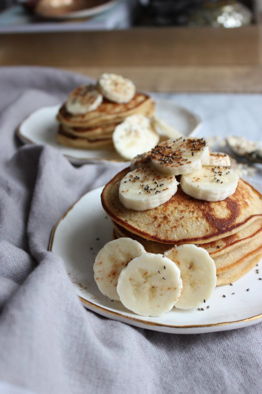 Apple-Cinnamon Oat Pancakes | Living Minnaly08.jpg