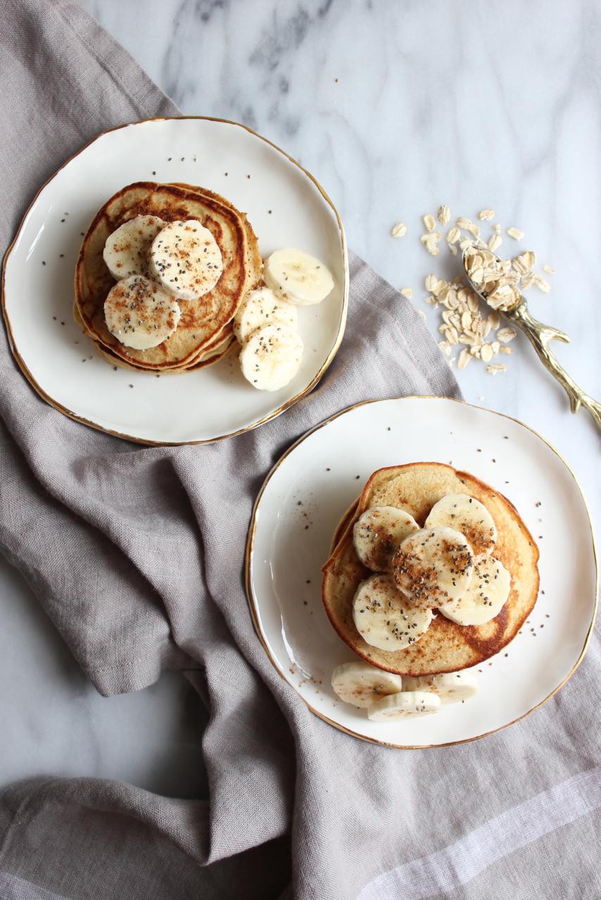 Apple-Cinnamon Oat Pancakes | Living Minnaly06.jpg