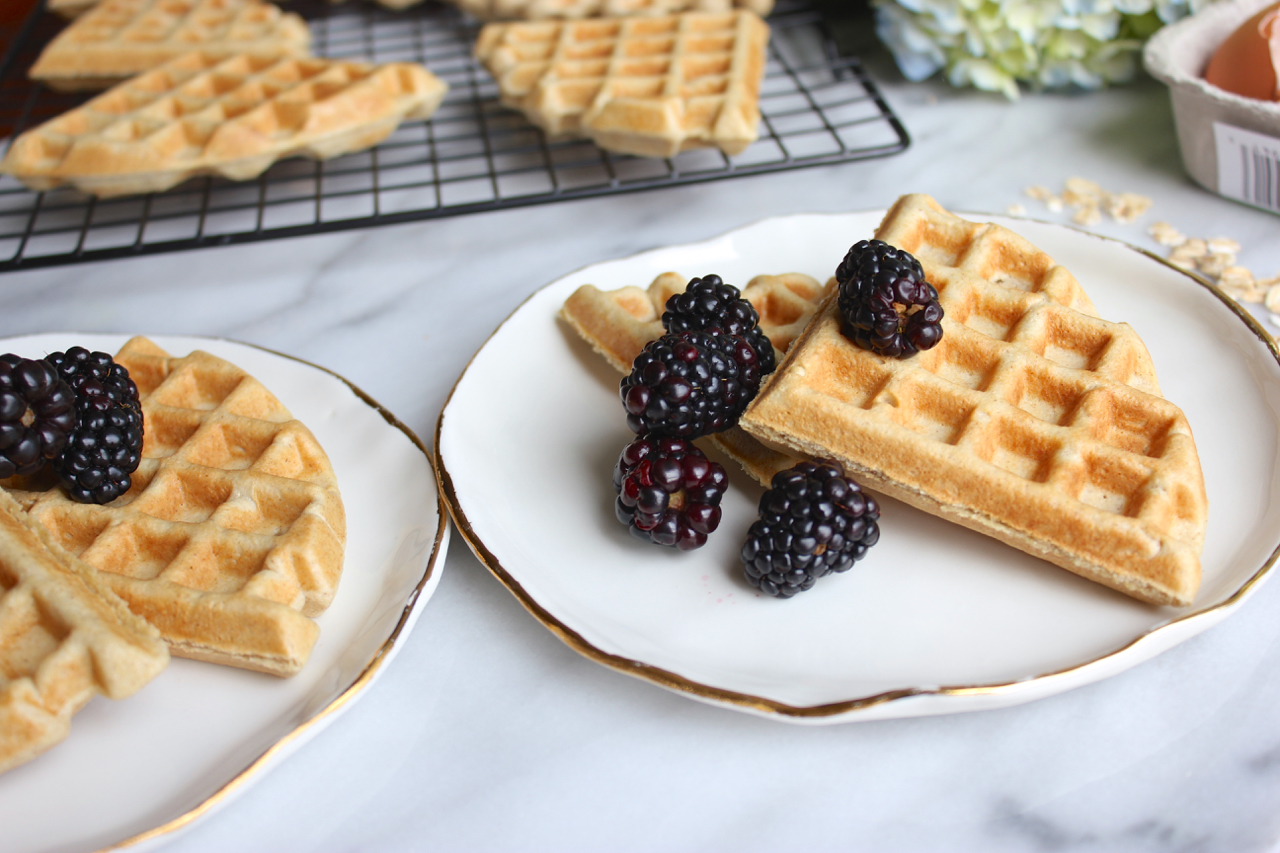 Basic Oat Waffles, Gluten-free | Living Minnaly7.jpg