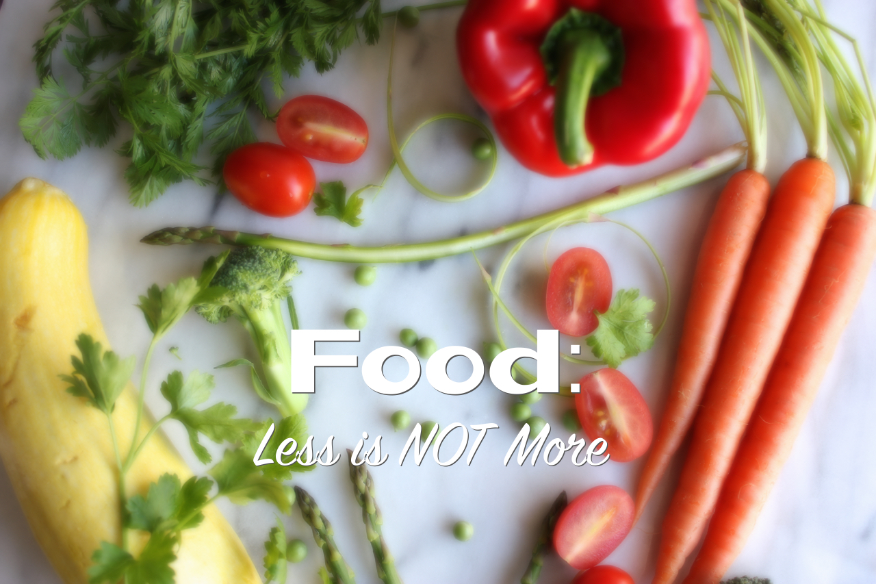 Food- Less is Not More | Living Minnaly