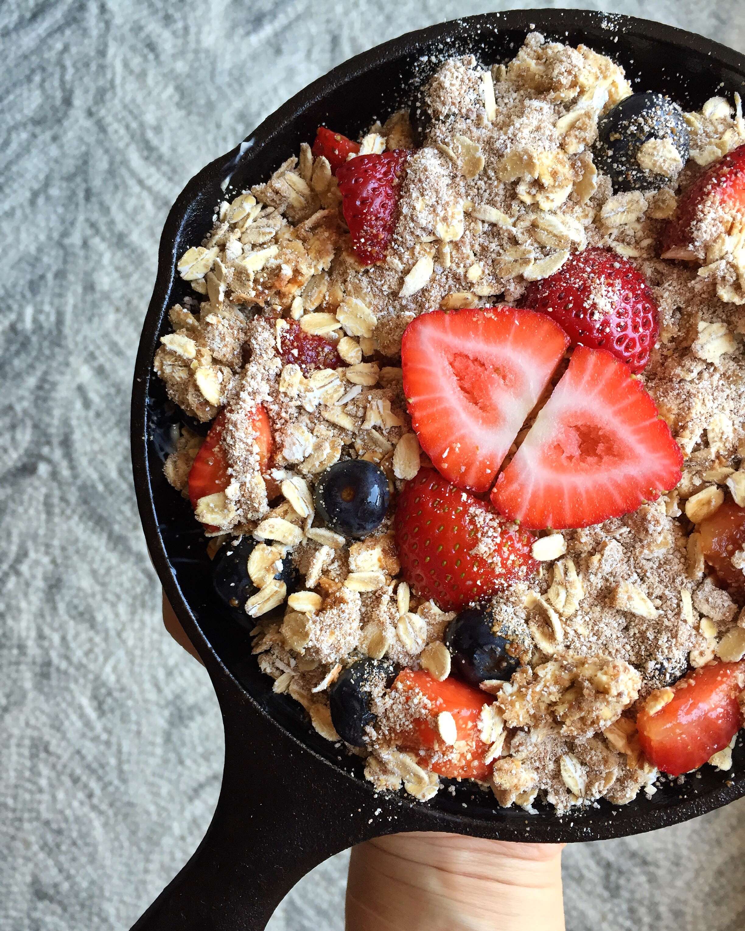 Coconut Berry Skillet Crisp  | Living Minnaly