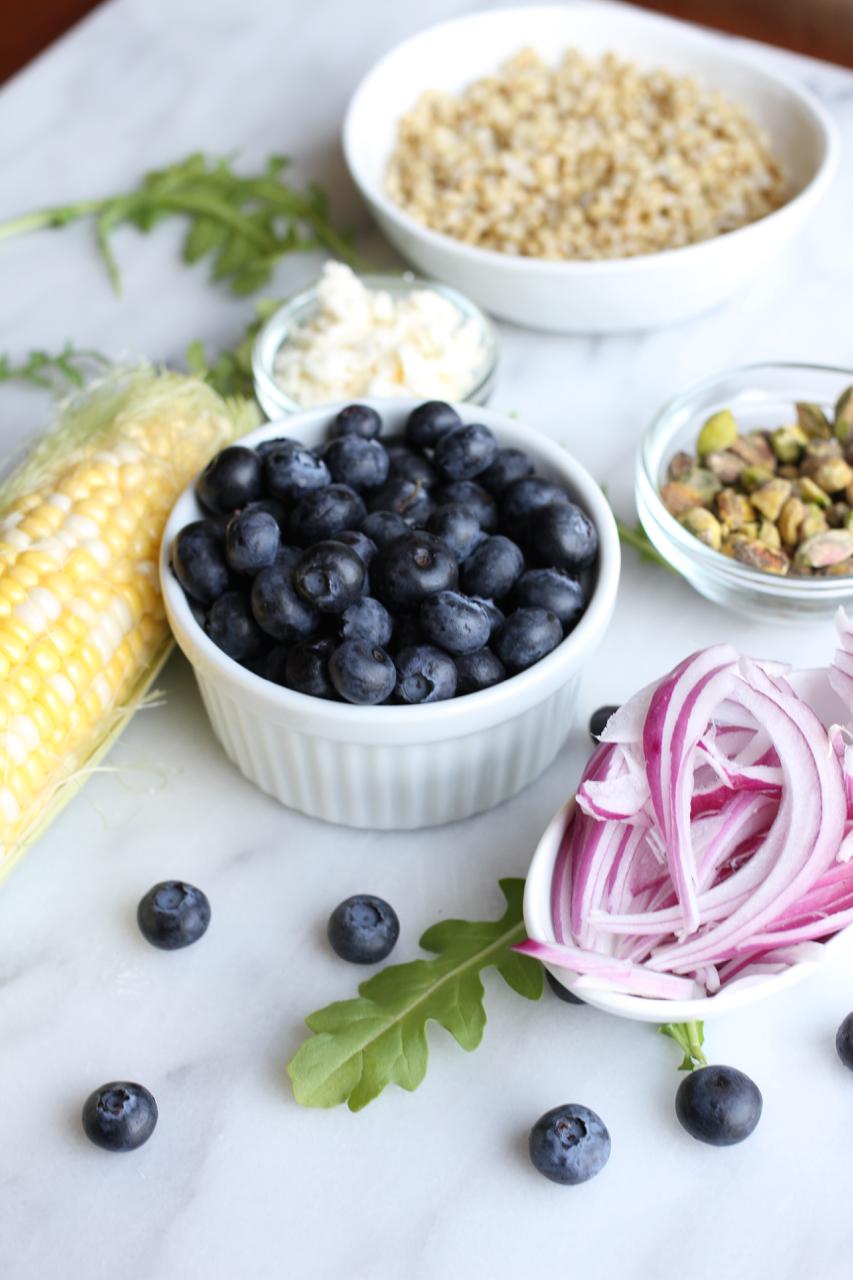 Summer Sorghum Arugula Salad w:Blueberry Balsamic Dressing | Living Minnaly06.jpg