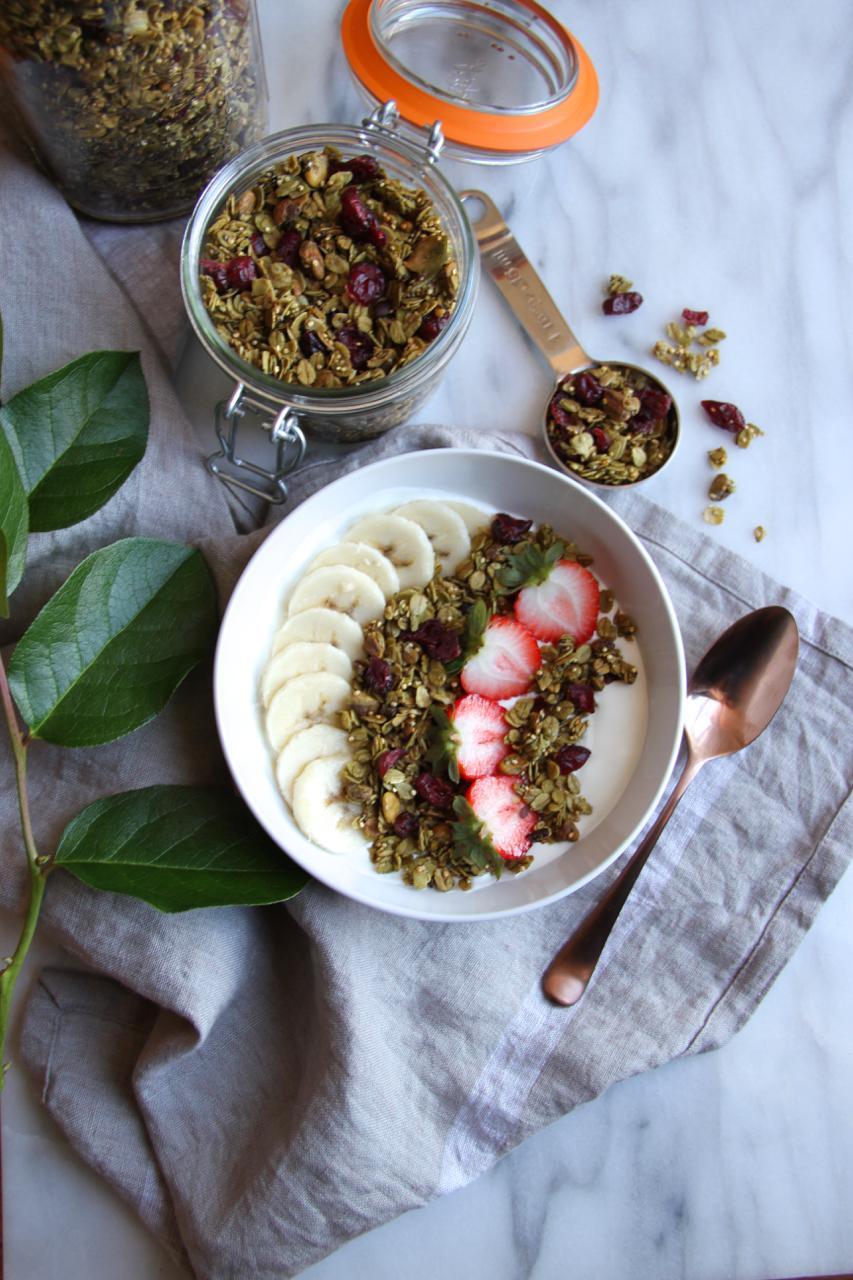 Matcha Cacao Crunch Granola | Living Minnaly01.jpg