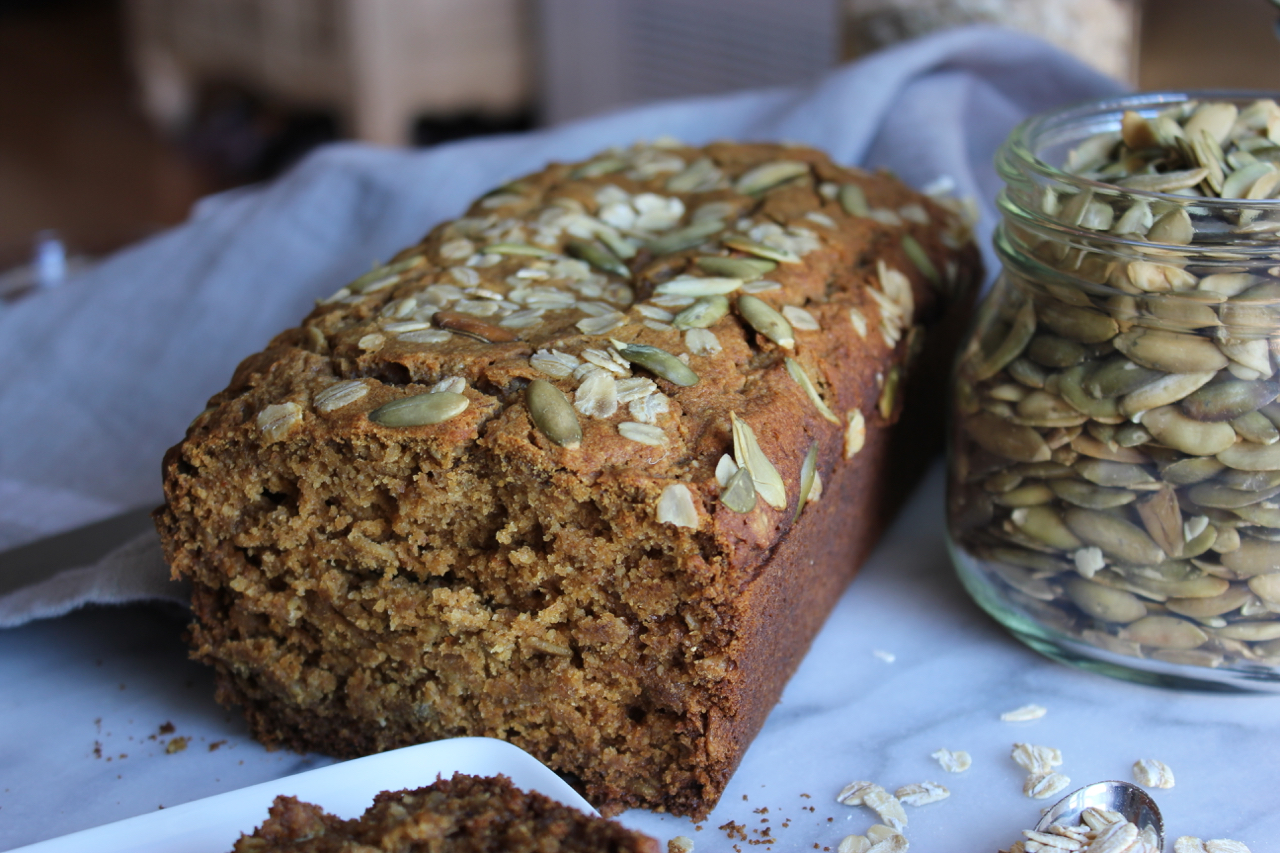 Pumpkin Olive Oil Banana Bread | Living Minnaly