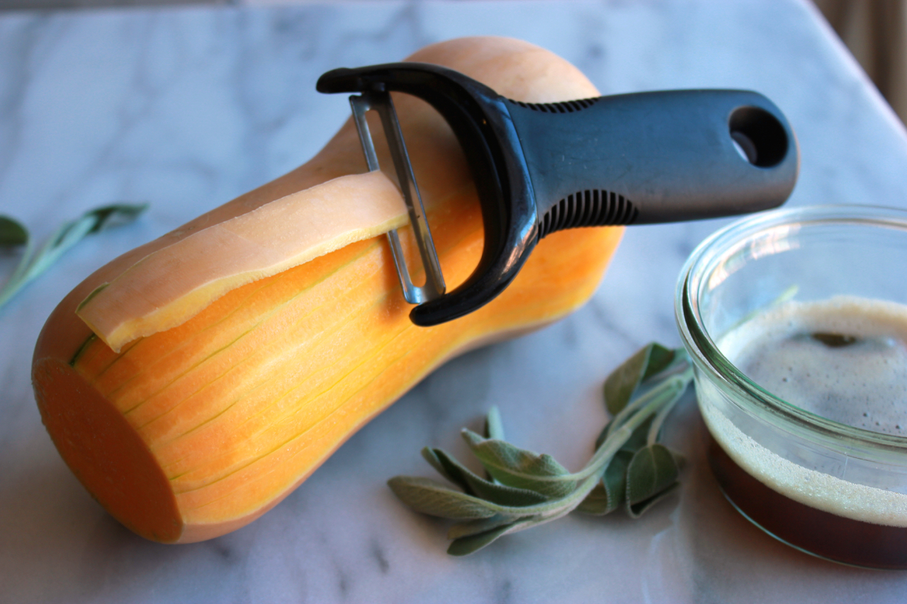 How to Peel and Cube Butternut Squash | Living Minnaly2.jpg