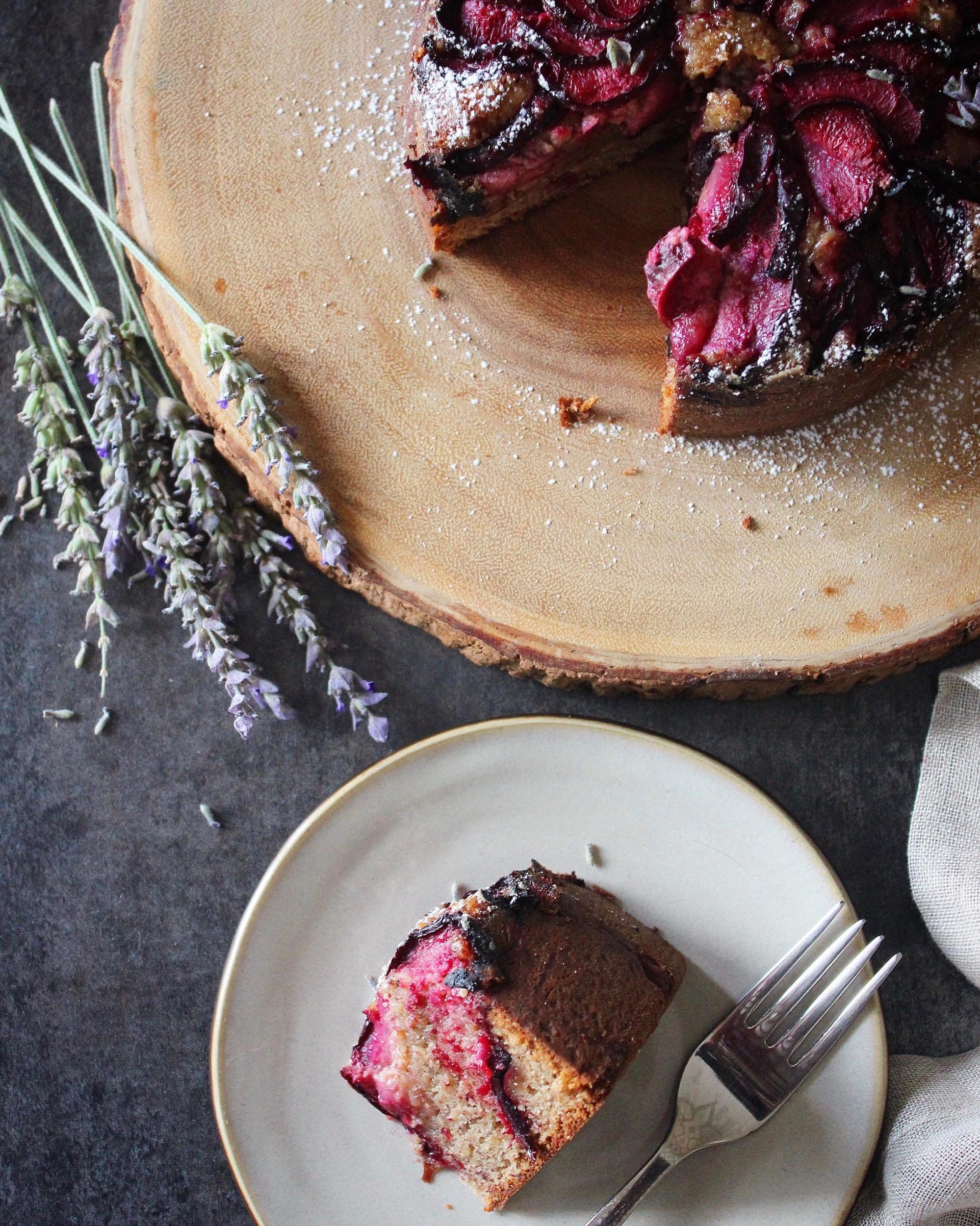 Pluot and Lavender Hazelnut Cake.jpg