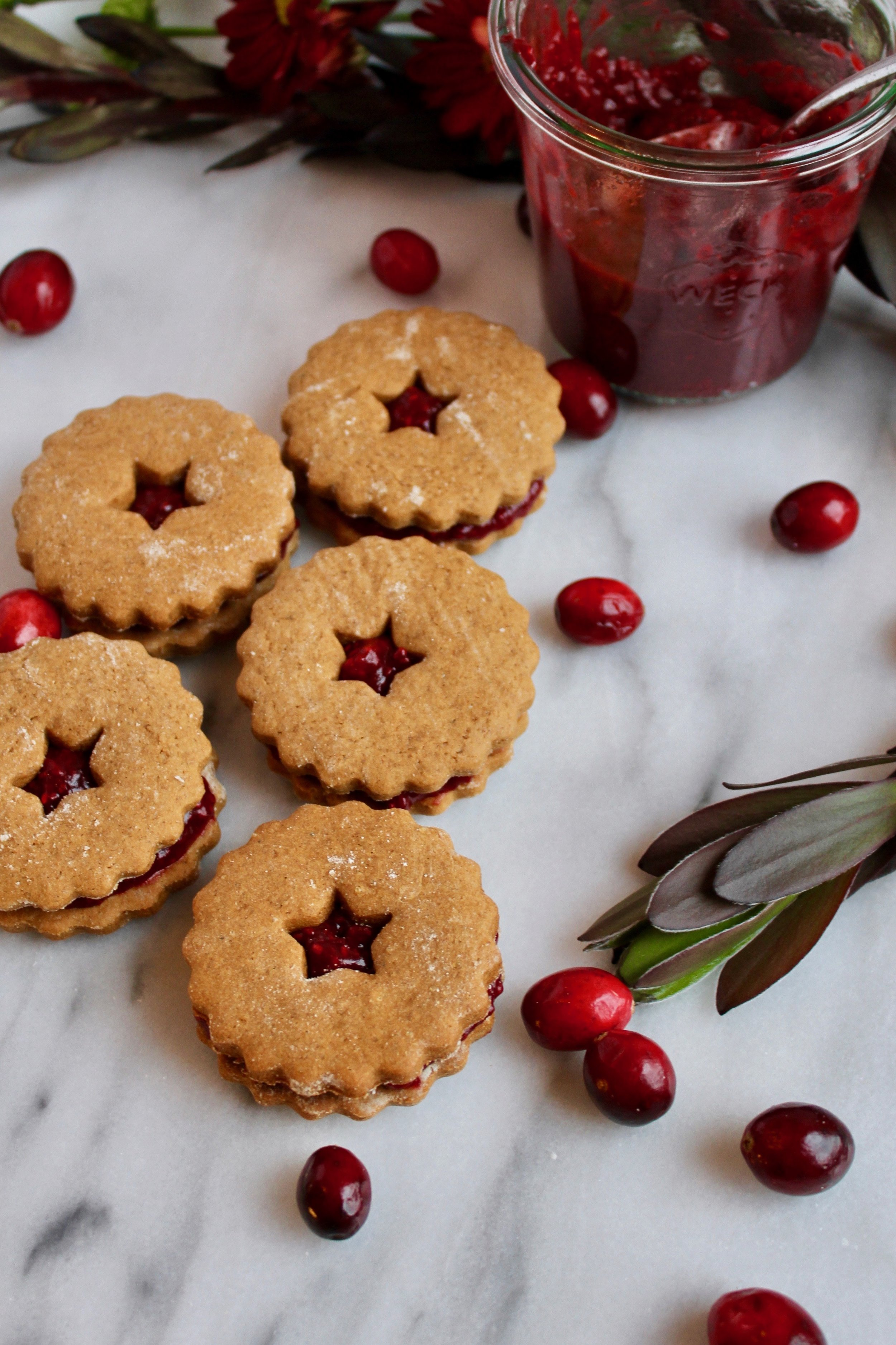 Gingerbread Cookie Sandwiches with Cranberry Chia Jam | Living Minnaly x Bob's Red Mill + Feedfeed ____1.jpg