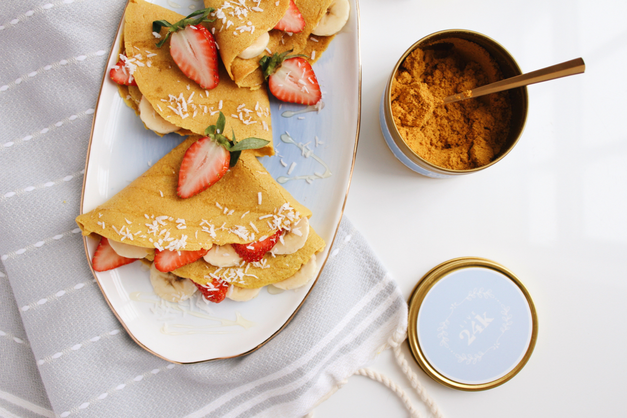 Golden Fuel Turmeric Collagen Crepes with Simple Mills + Live 24k | Living Minnaly  - 7.jpg
