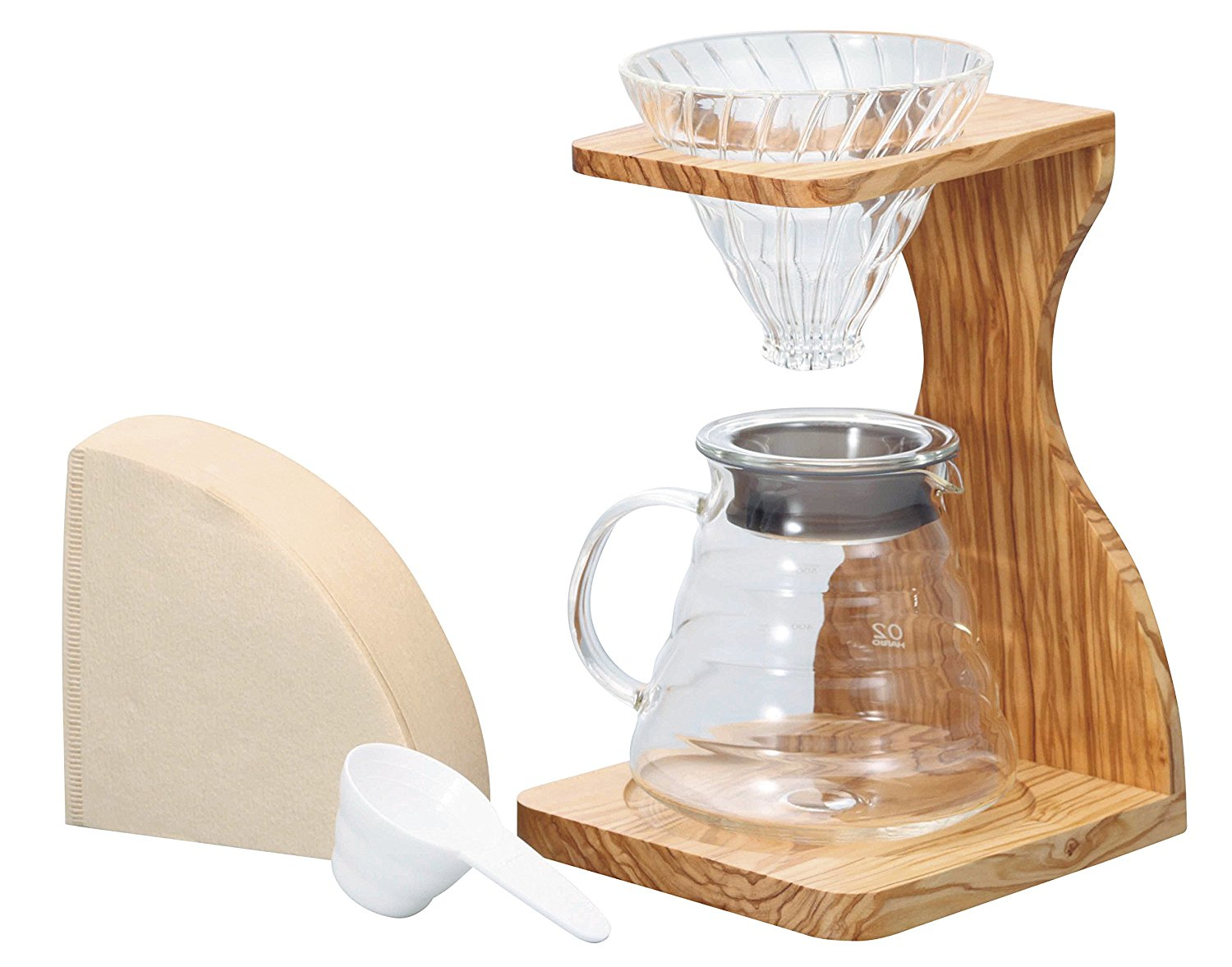 Hario V60 Pourover Olive Wood Set