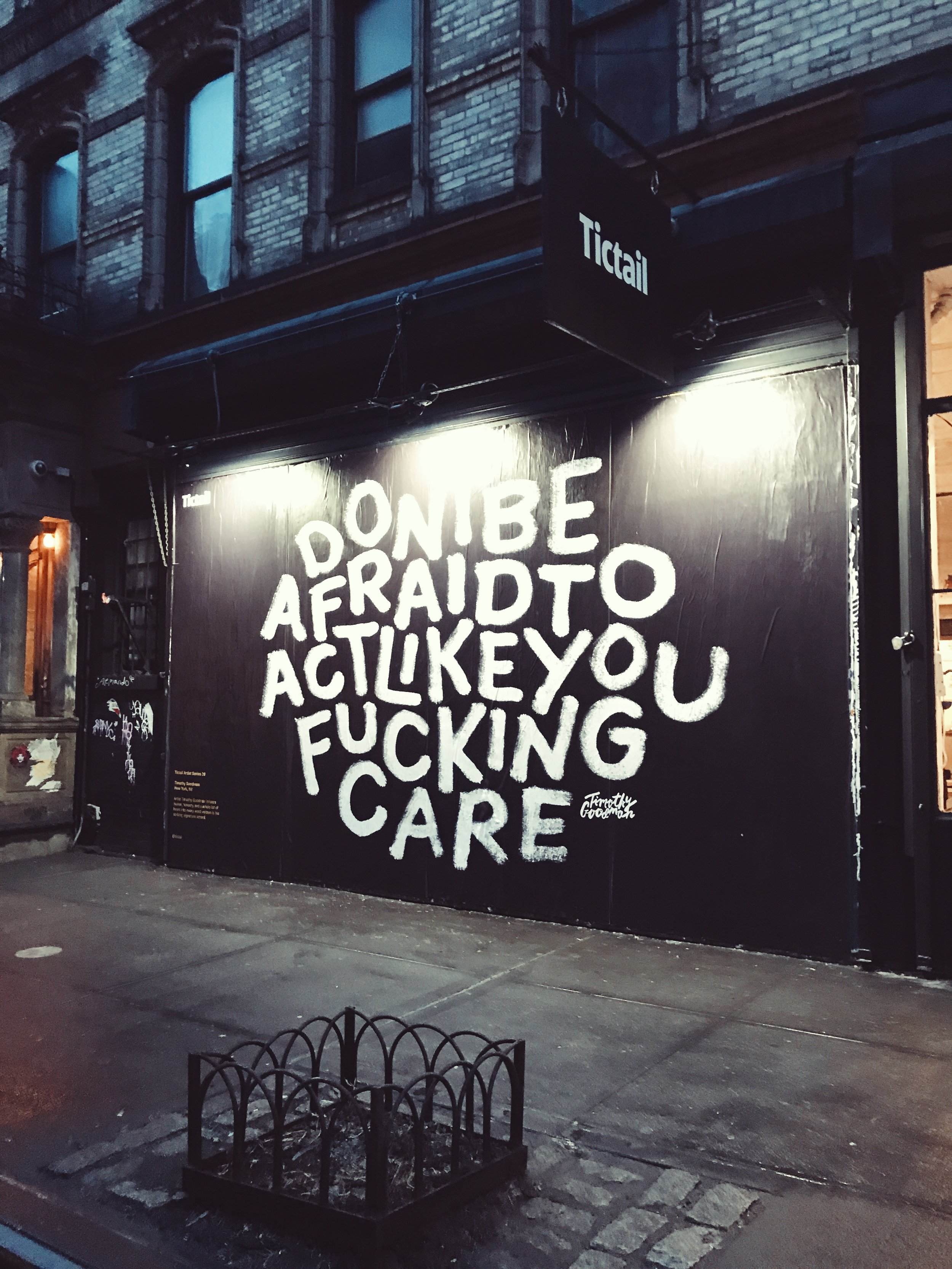 Don't be afraid to act like you fucking care __ living minnaly