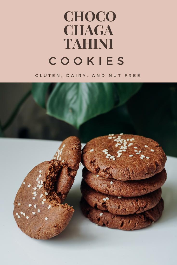 Chocolate Chaga Tahini Cookies gluten free dairy free | Living Minnaly__1.png