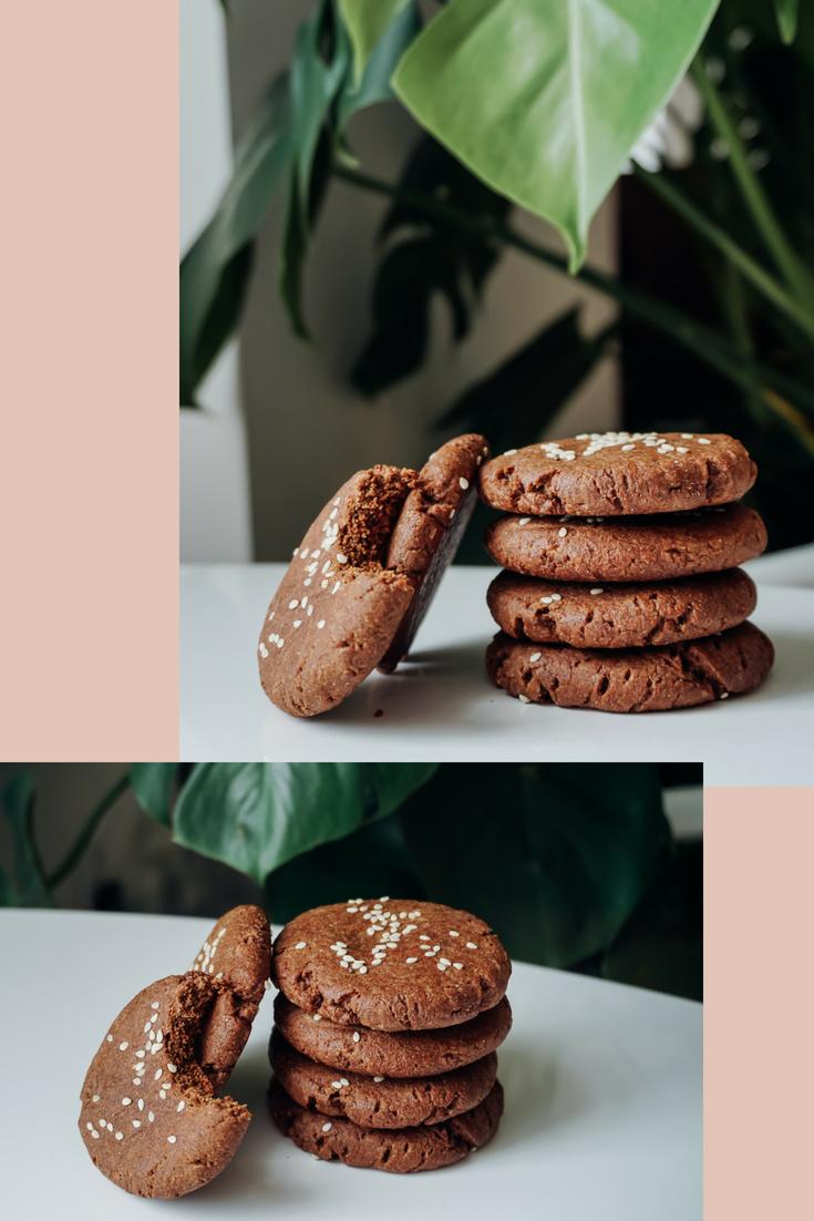 Chocolate Chaga Tahini Cookies gluten free dairy free | Living Minnaly__2.png