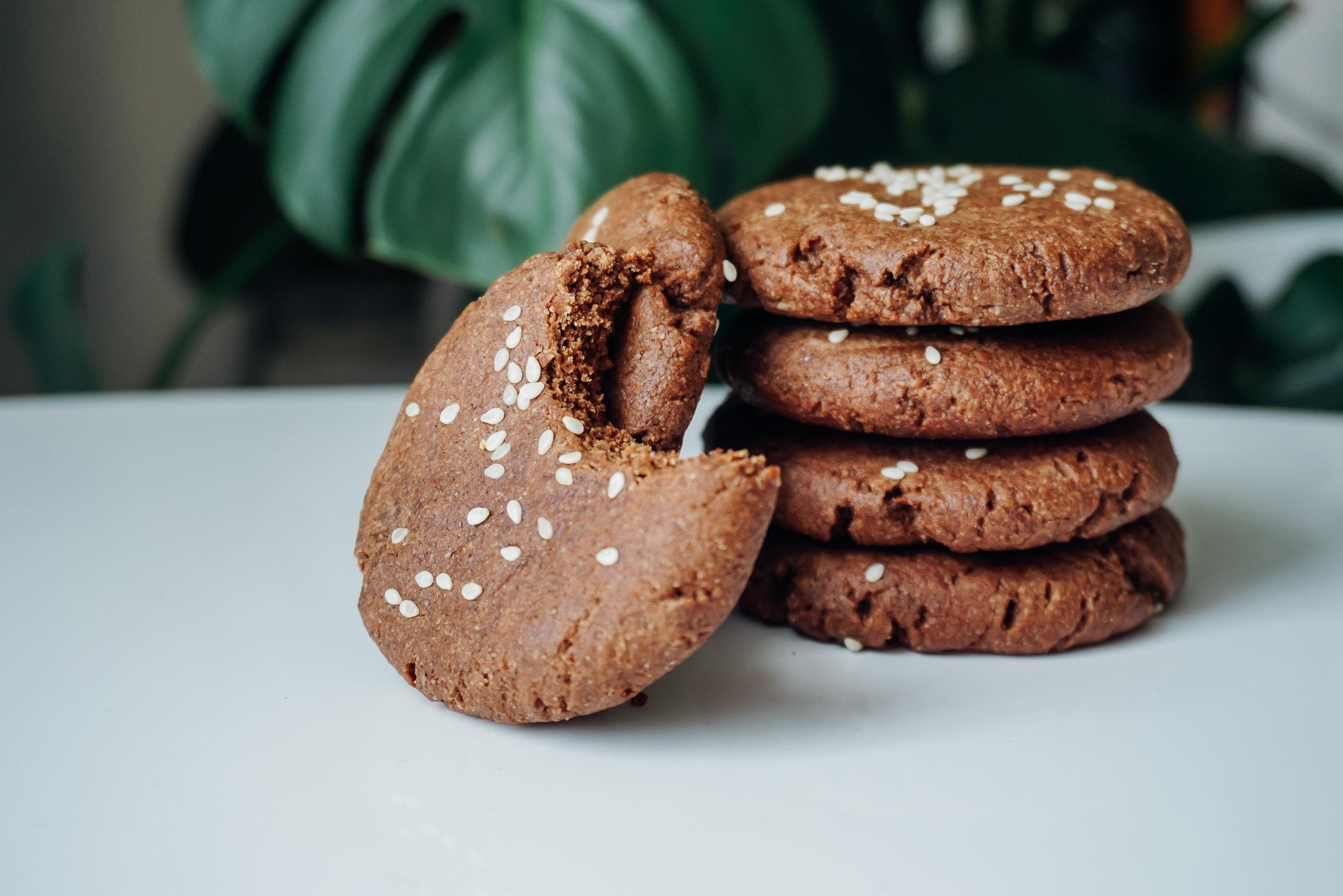 Chocolate Chaga Tahini Cookies gluten free dairy free | Living Minnaly__7.jpg