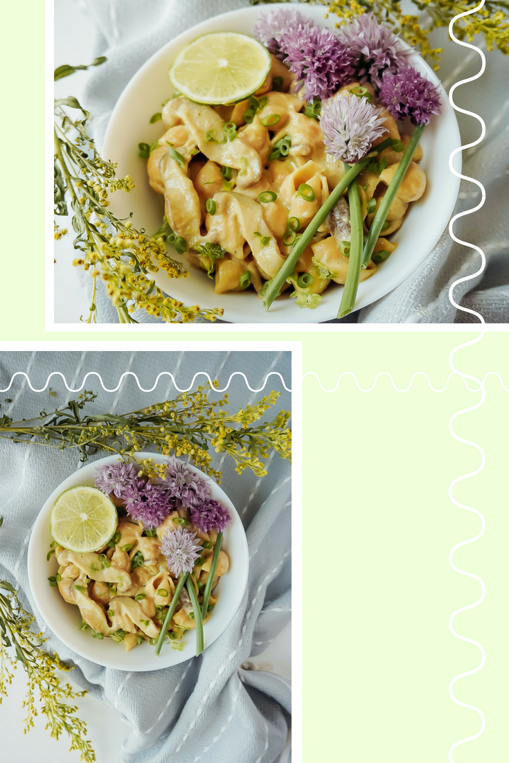 Spring Vegan Curry Pasta with Mushrooms and Chives _ Living Minnaly2.png