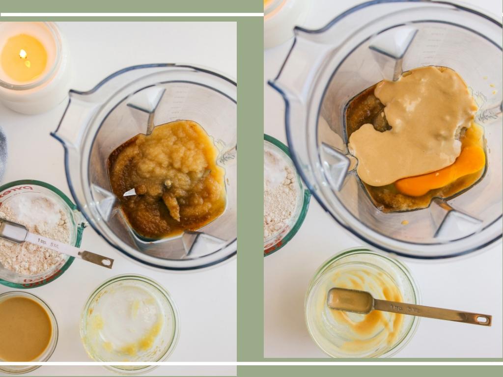 Apple Cinnamon Tahini Oat Pancakes | Living Minnaly __21.jpg