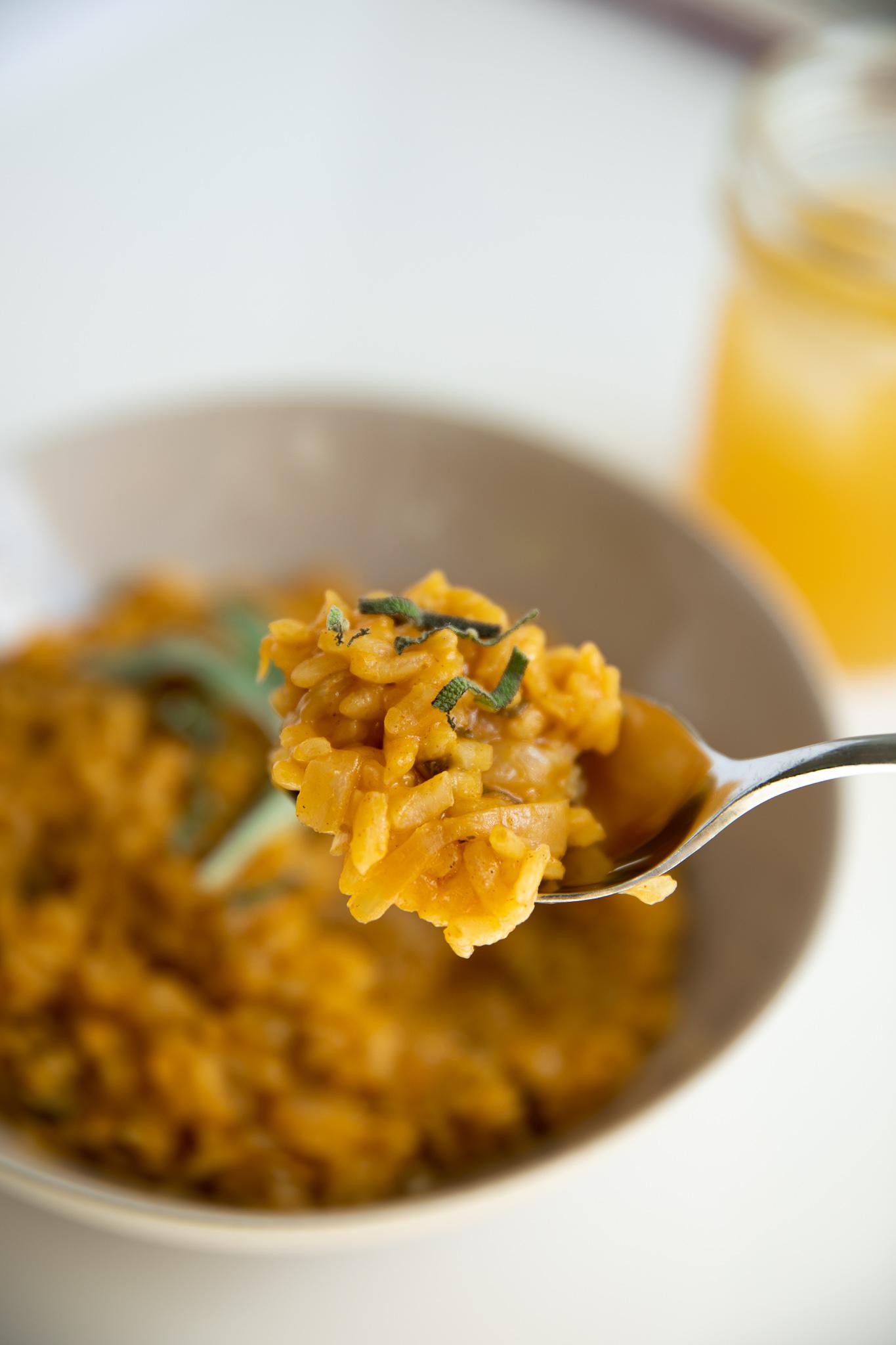 Pumpkin Sage Risotto, GF Vegan | Living Minnaly __33.jpg