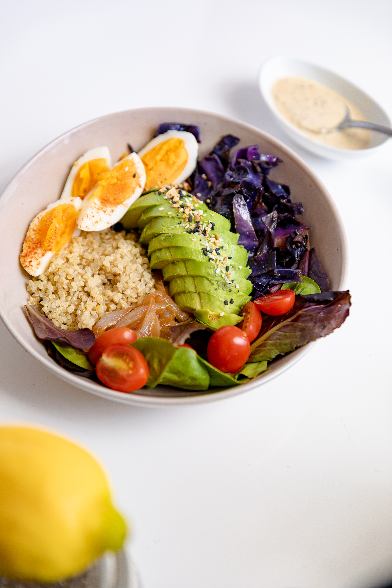 Food Prep Tips + Lemon Tahini Chia Dressing Recipe | Living Minnaly__16.jpg