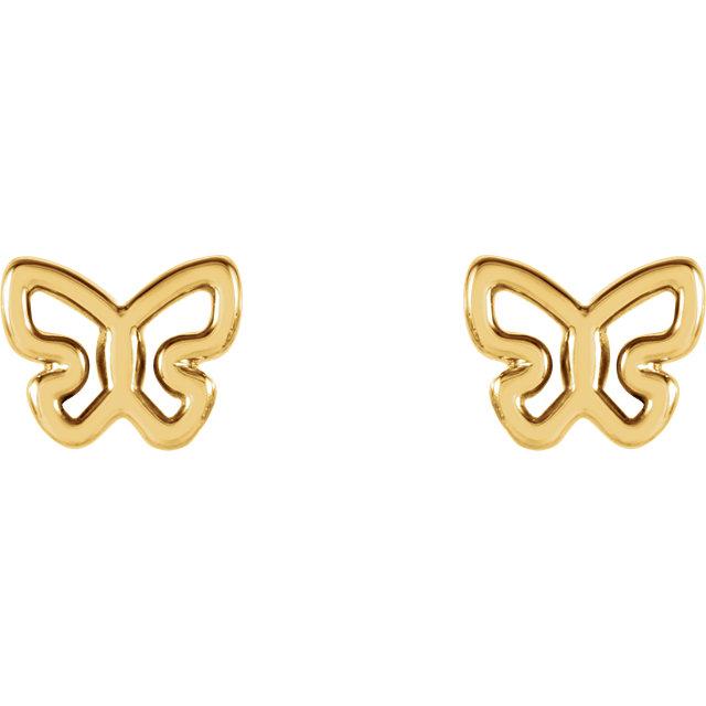 butterfly ear-studs