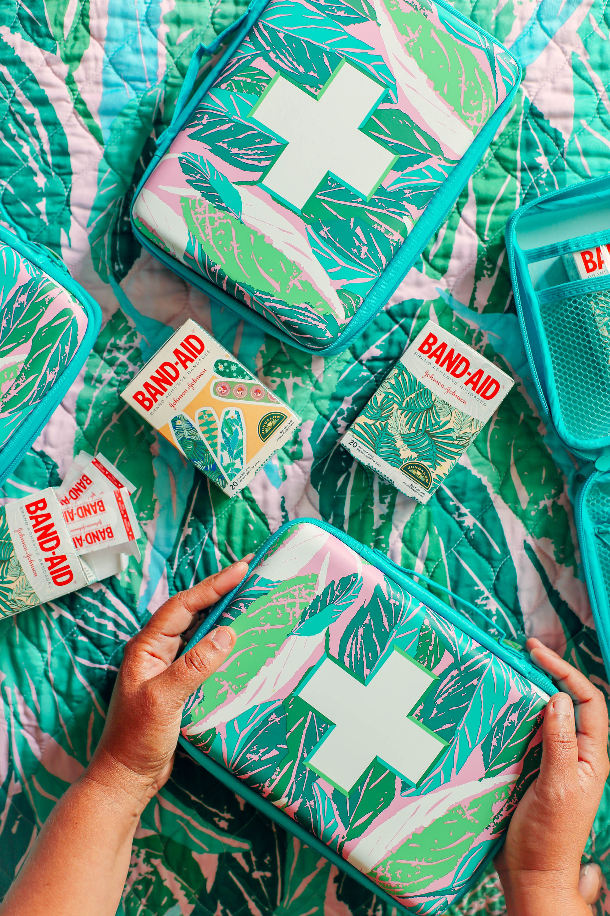 JUNGALOW   ® First Aid Kit and Band-Aid Brand Adhesive Bandages    at Target