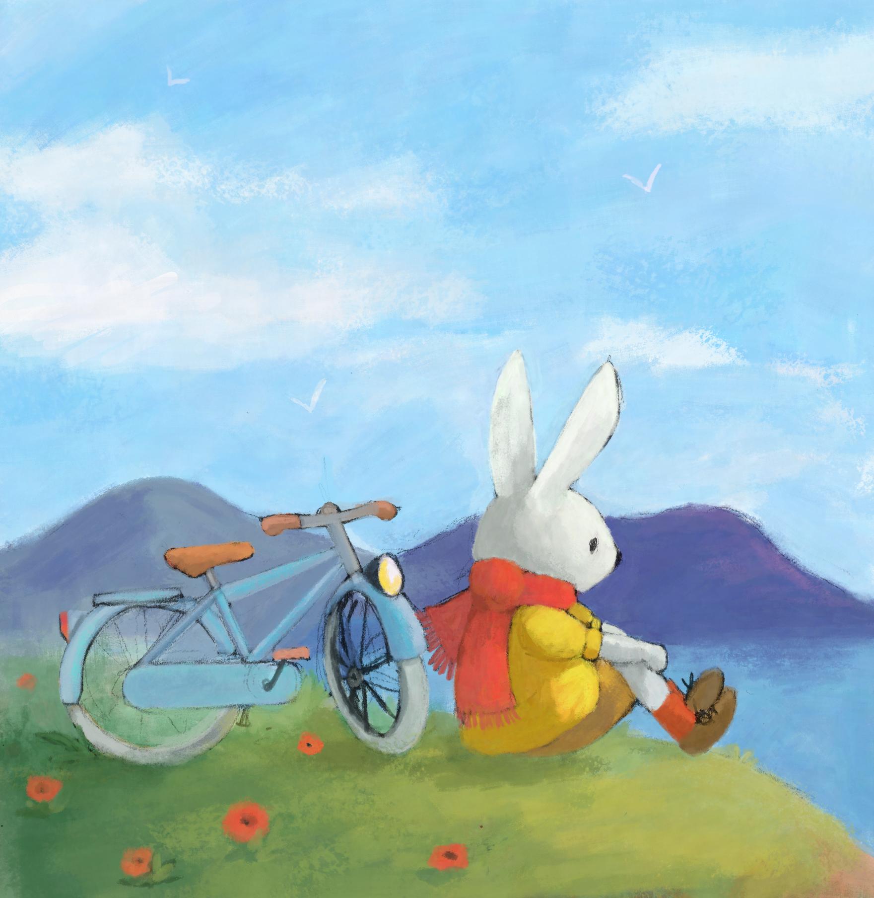 Le lapin sur la colline