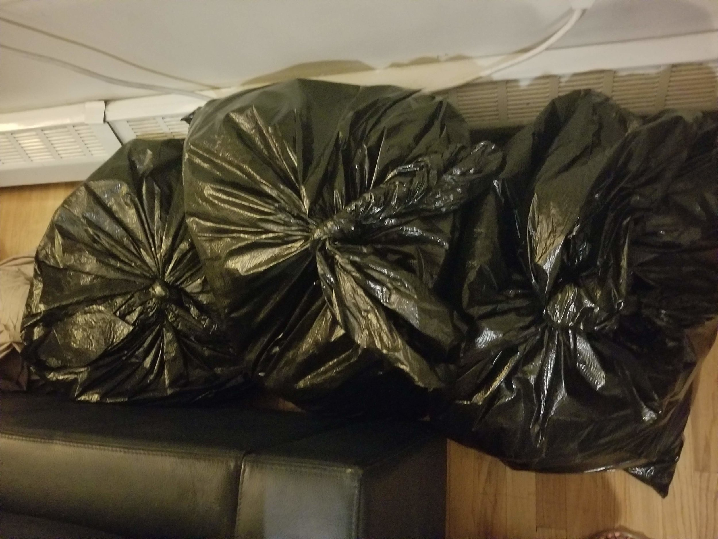 Purged Clothing for Donations