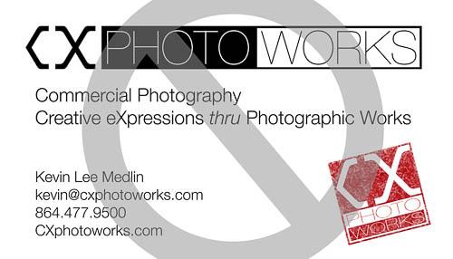 CXphotoworks Business Card (reject)