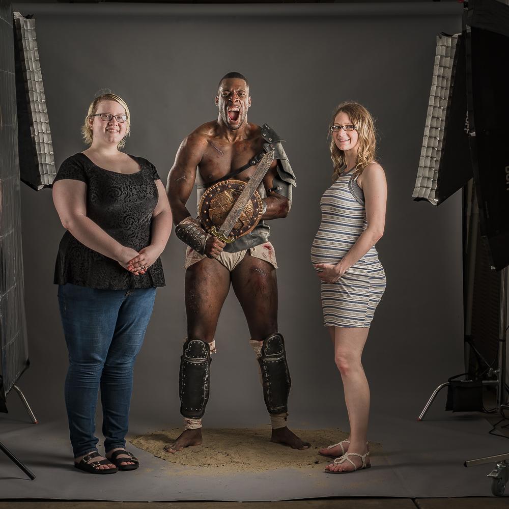 CX Photo Works'Spartacus photo shoot crew: Paige Nicole Pannell, Arron Patterson, & Loren Patterson.
