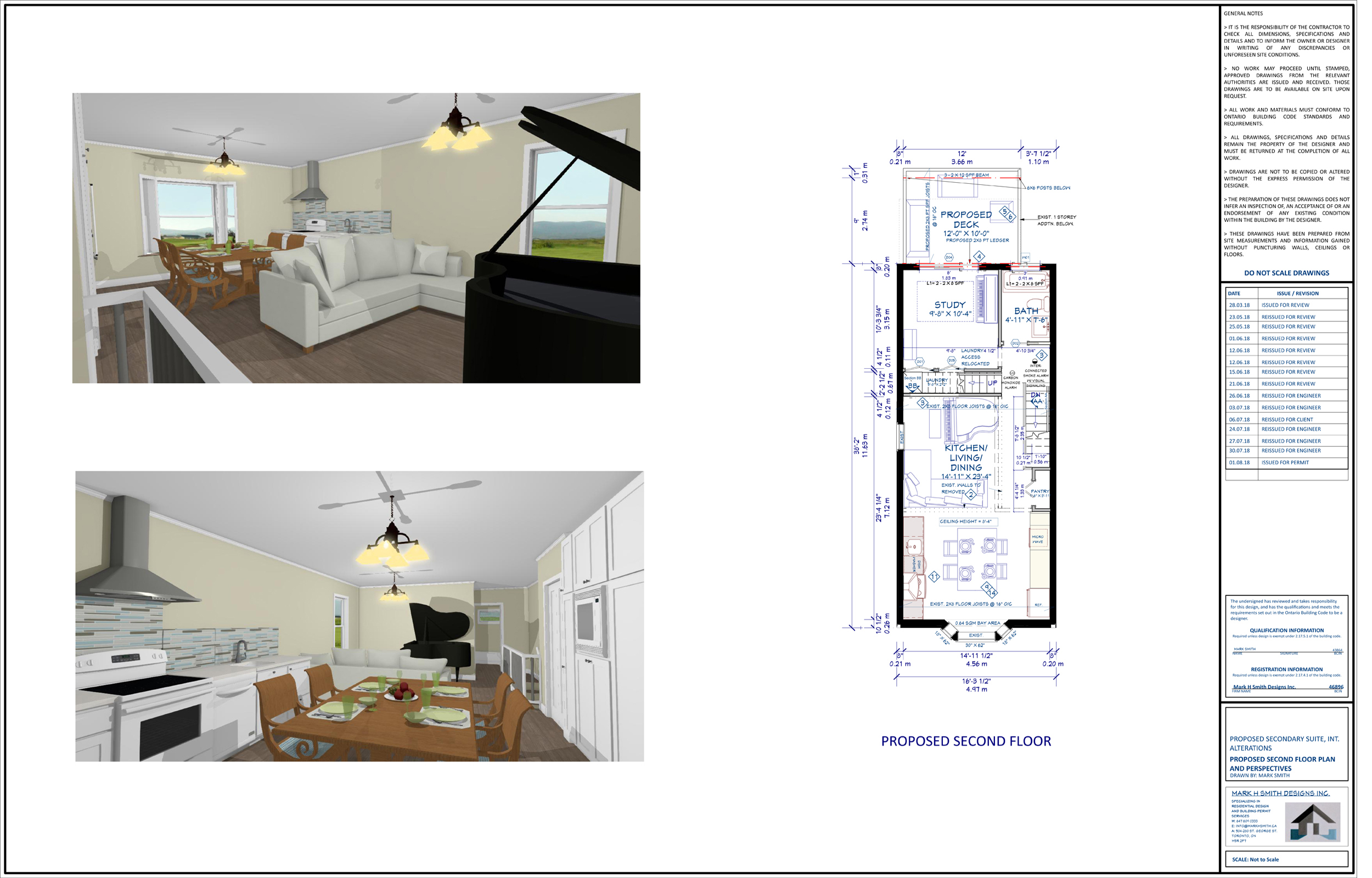 Toronto Building permit- Interior Renovation Plans