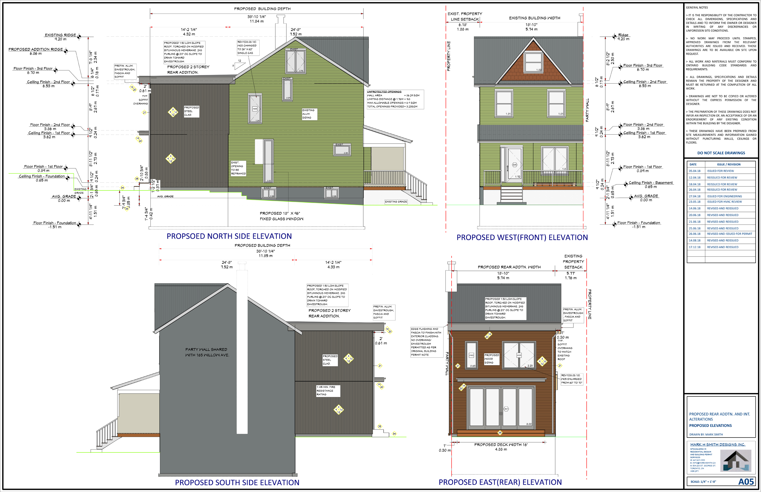 Toronto Building permit- Two storey addition