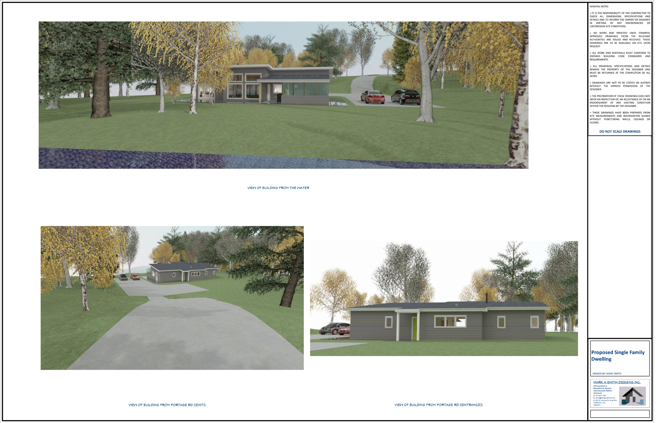 New building model proposal for building permit