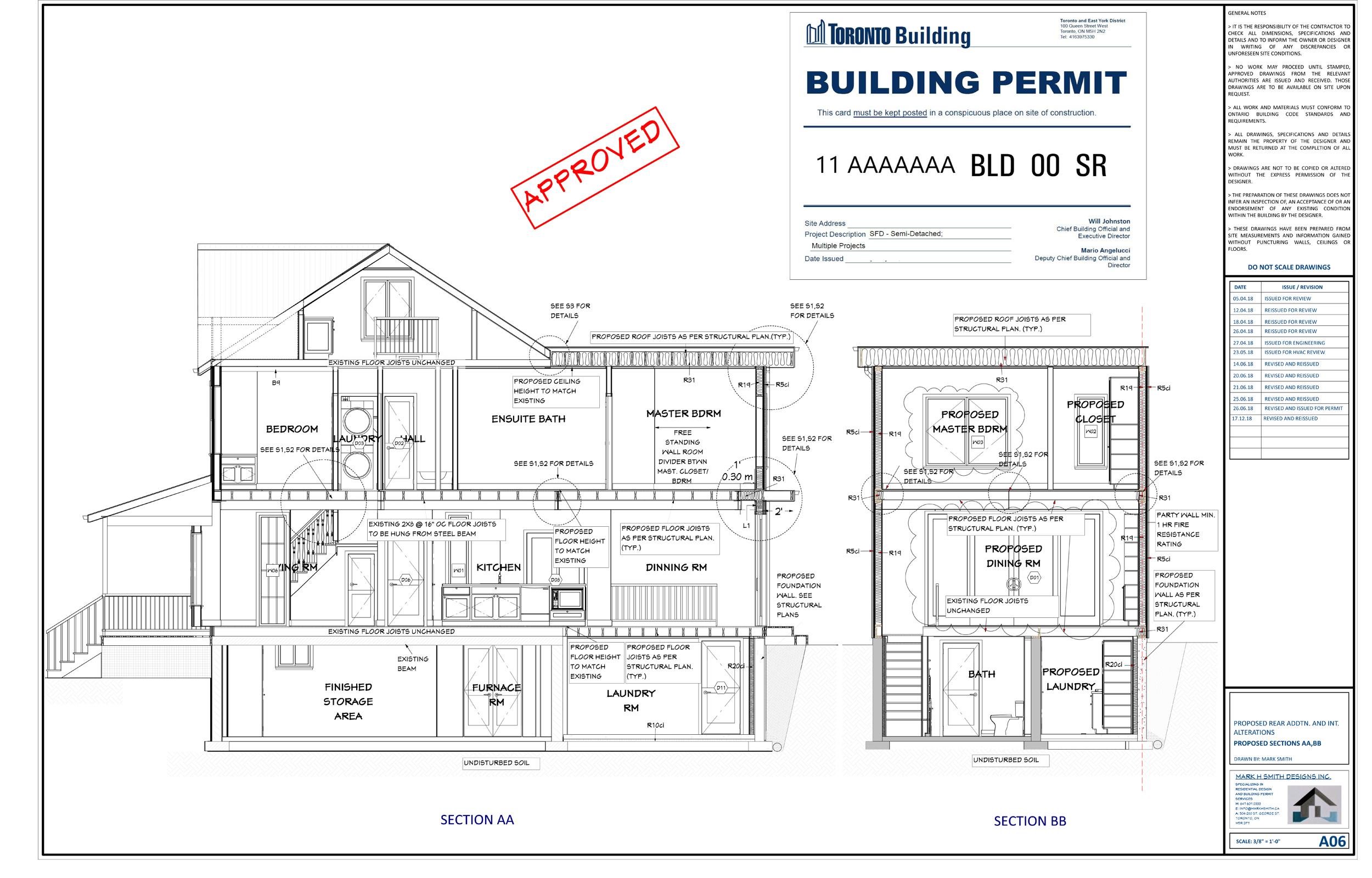 Toronto Building Permit Drawings