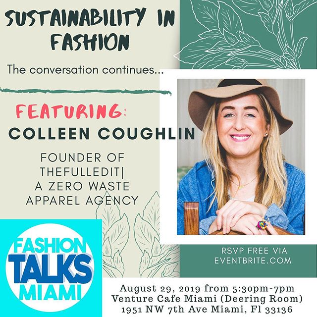 """📍#Miami Event Last #ClothingSwap w/ @tanguilife we saved 120lbs of fabric from going into the waste stream #SustainableSwappers unite 🤟🏽♻️👗👖 . As #JayZ says...""""onto the next one!JOIN US mañana @venturecafemia where I'll be chattin' with @fashiontalksmiami about events like these and go more in depth about year 8 of working in  #sustainablefashion 🤟🏽😎🤟🏽 see you there !!"""