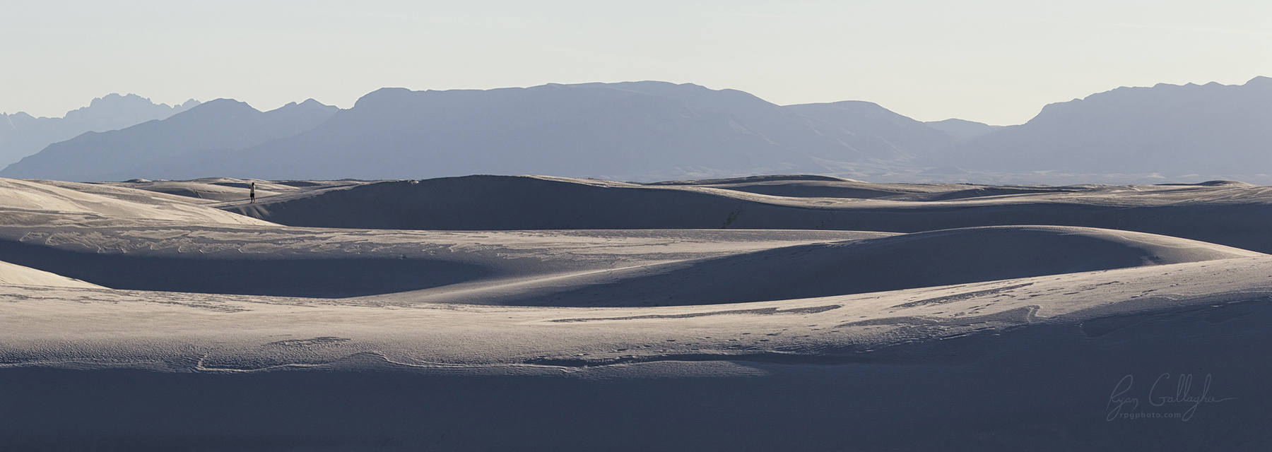 Desert Waves in Waning Light - White Sands National Monument