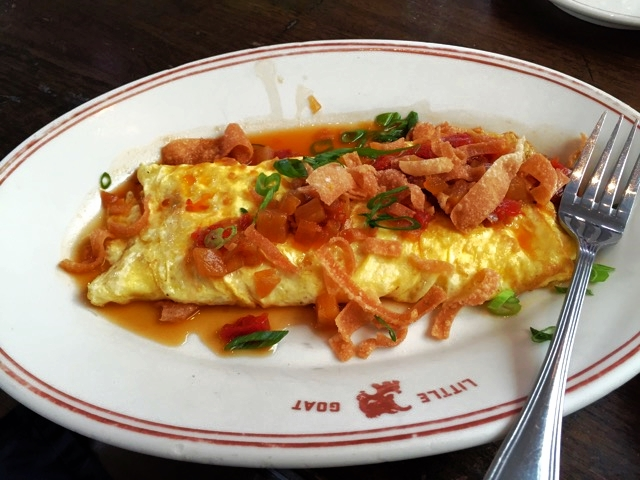Crab rangoon omelette