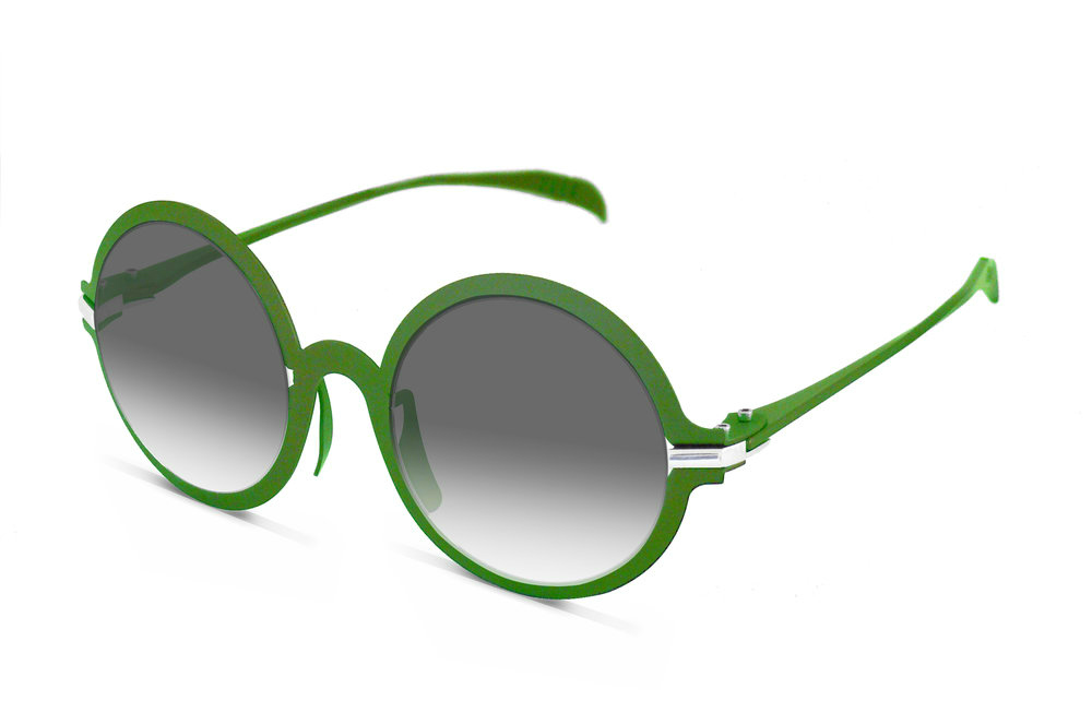 Beta-titanium & Sterling Silver frame Bronze, Black, Bottle Green & Silver Sun & Optic 48 □ 23 140 H:57 W:140    AUD 1,140 (inc. GST)     CONTACT US    to order