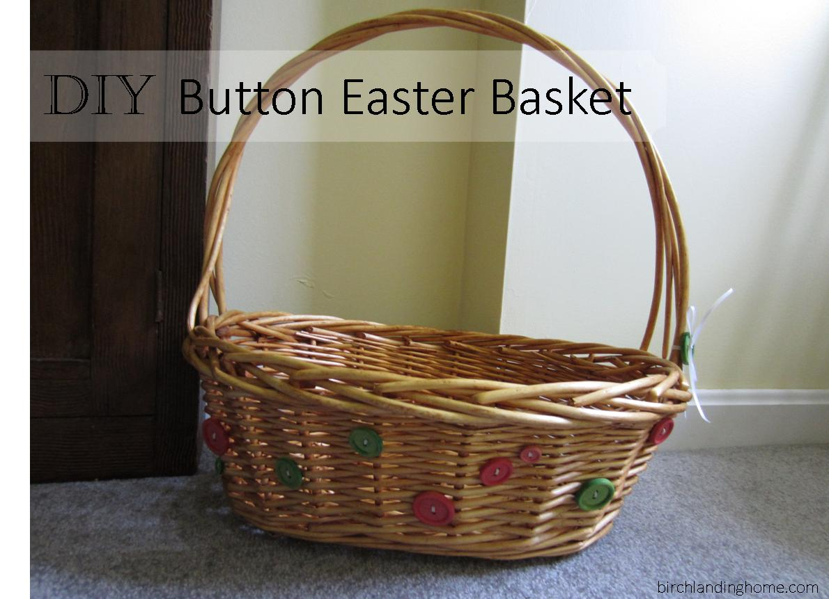DIY Button Easter Basket - perfect Easter basket for a little girl