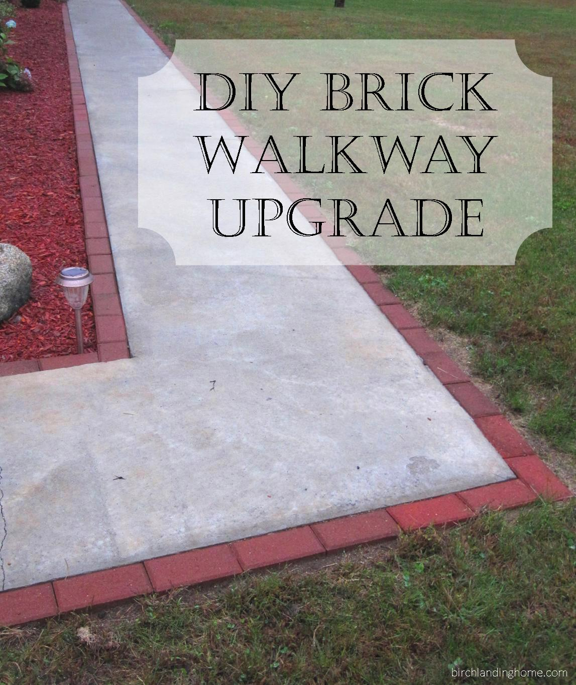 DIY Brick Walkway Upgrade for a Concrete Pathway Tutorial - add value and class to your entry