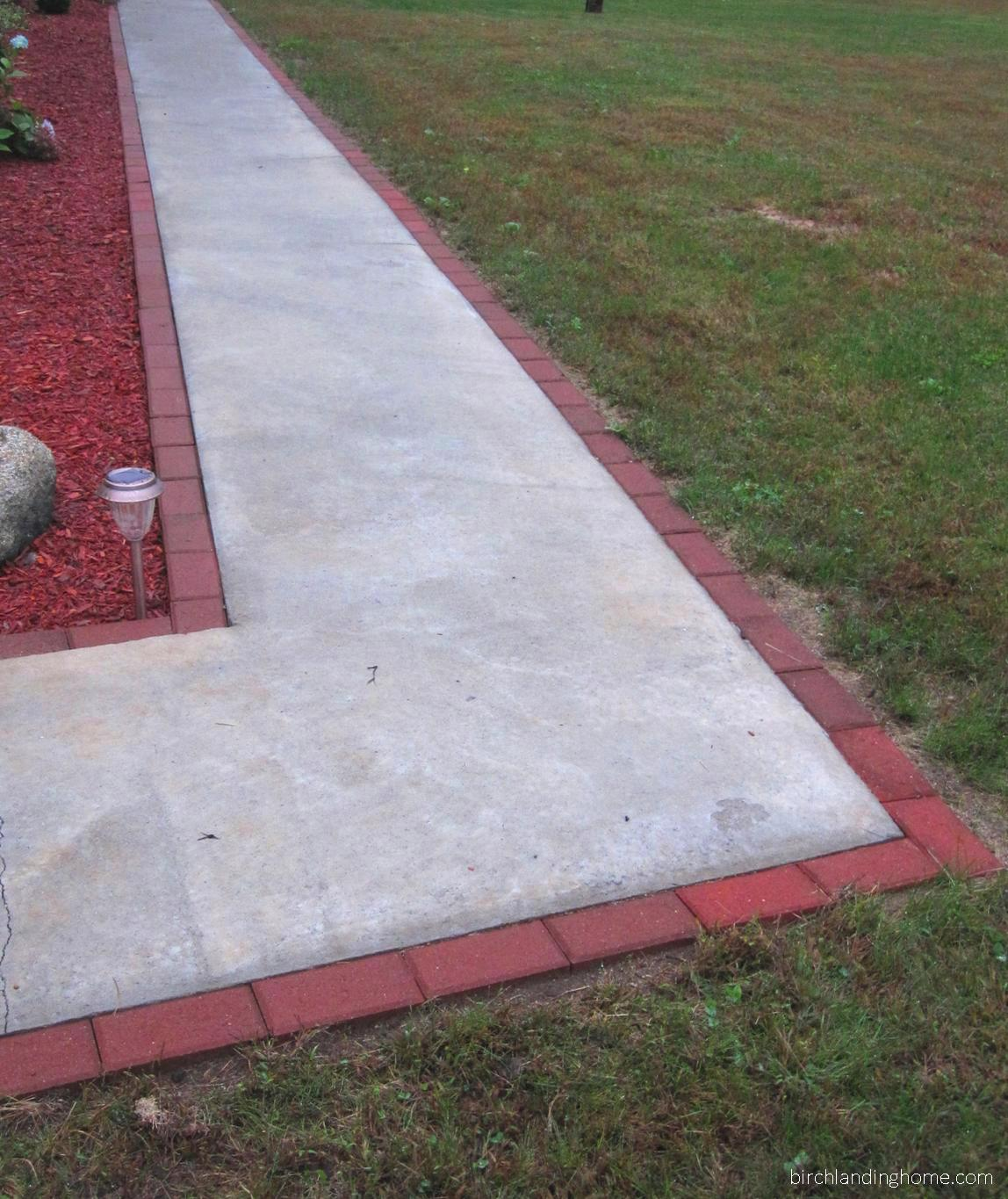 Instant value and class for a worn concrete path
