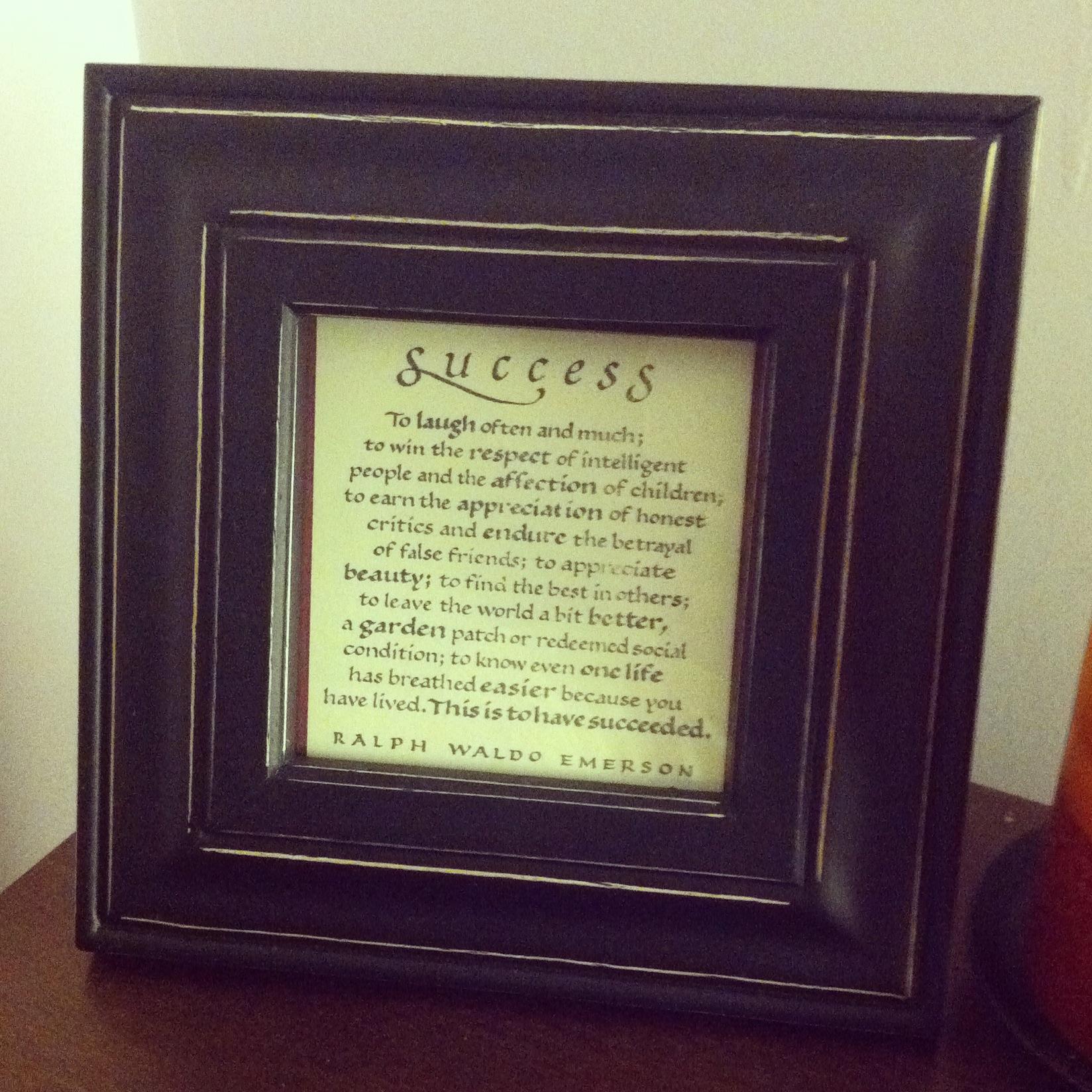Success by Ralph Waldo Emerson Keepsake