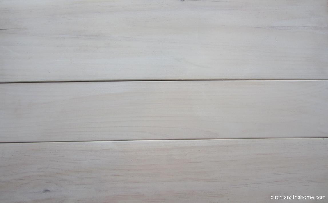 Whitewashed boards DIY