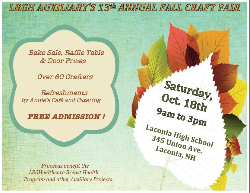 LRGH Auxiliary's Fall Craft Fair