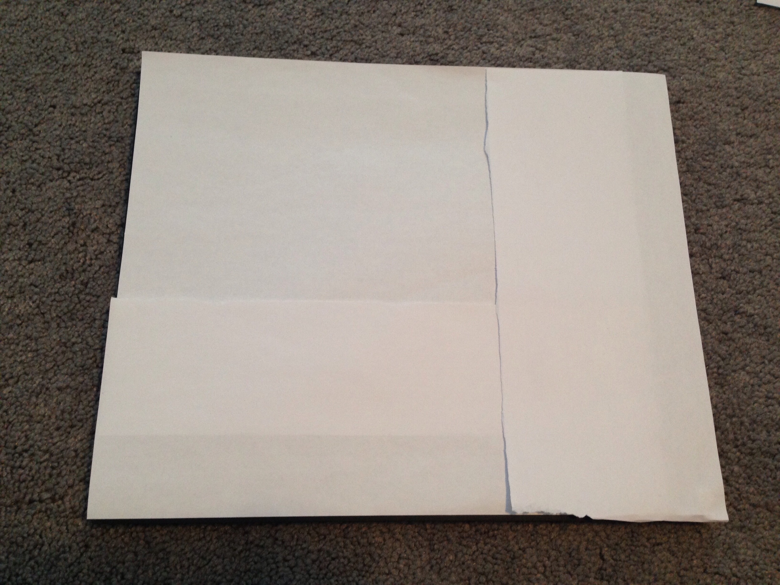 Paper template for gallery wall