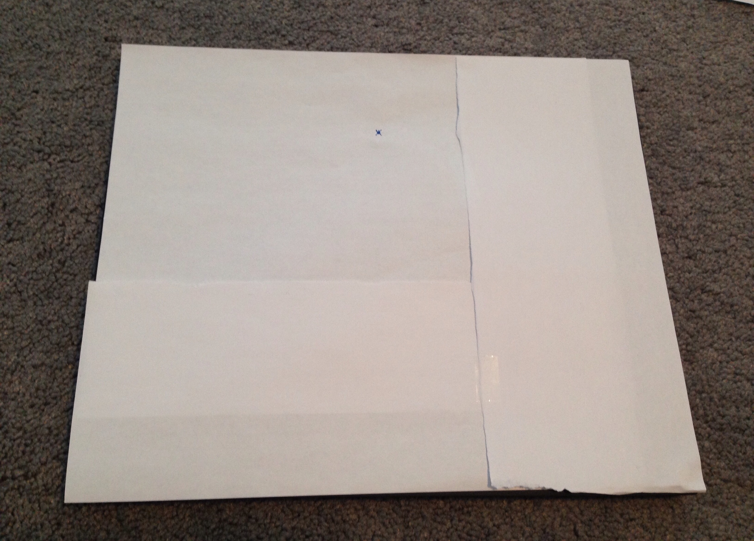 Paper template for the gallery wall