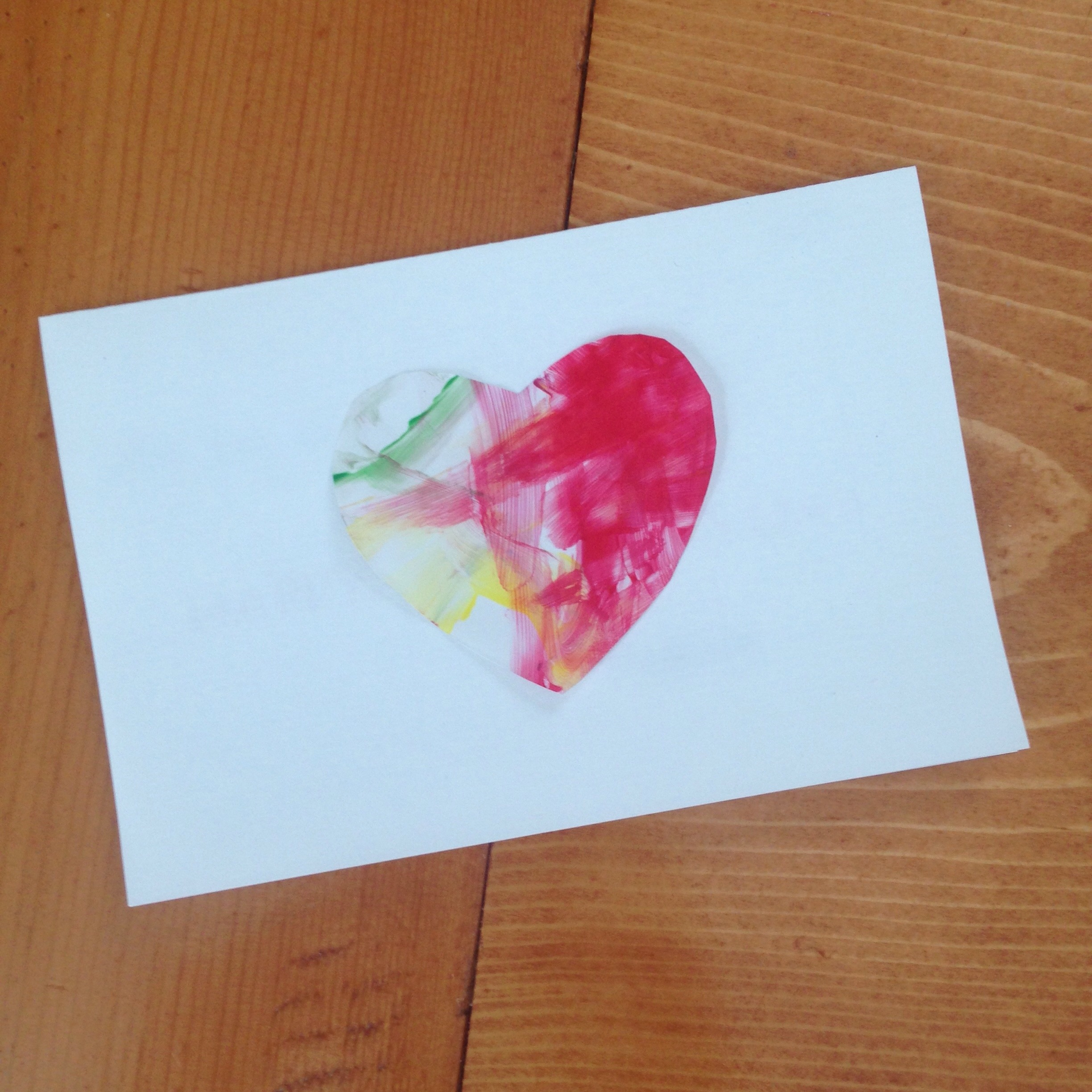 Finished Toddler Art Valentine - simple, easy, beautiful, and fun!