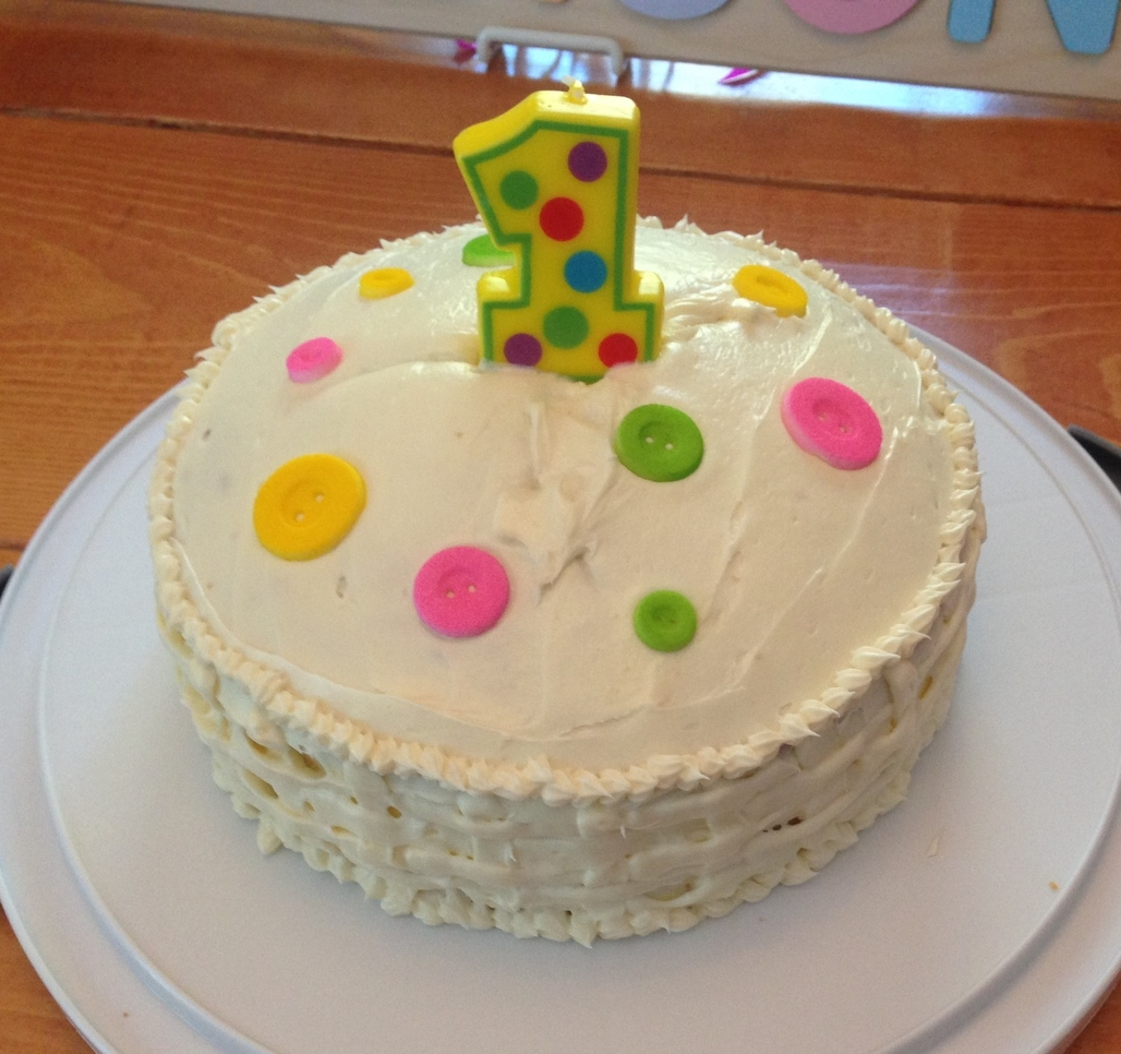 Button 1st Birthday Cake
