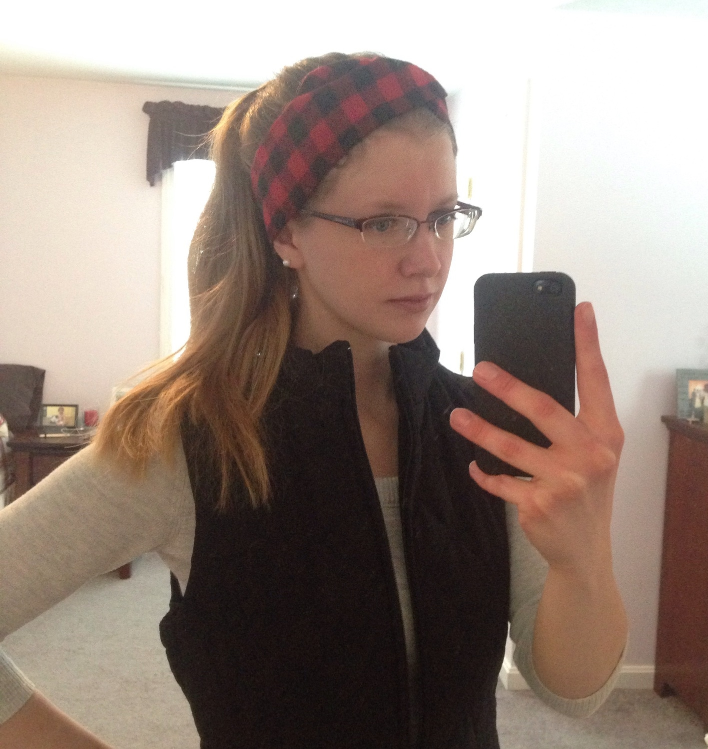 Willow Crowns Buffalo Plaid Turban wrap is the perfect finishing touch to this winter outfit