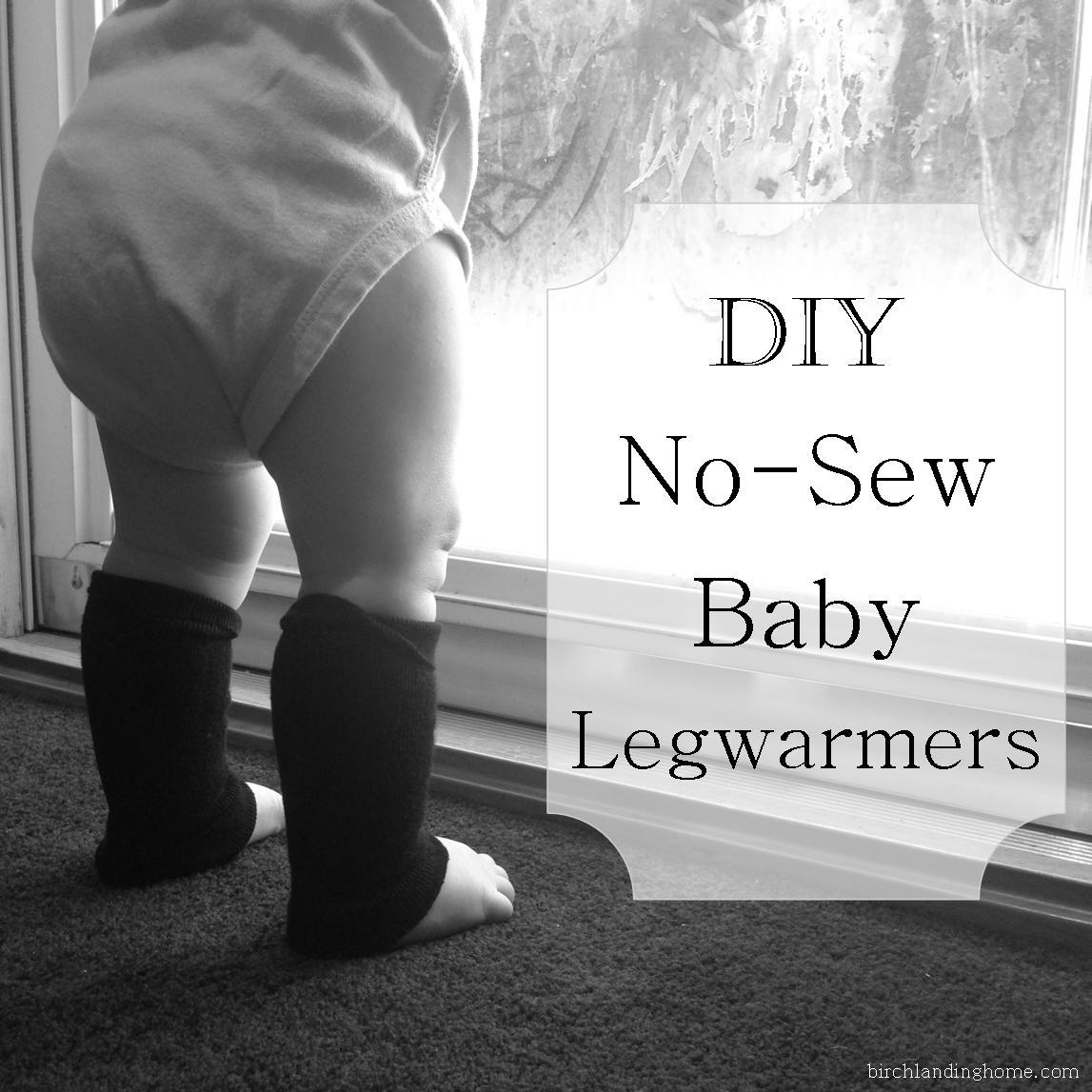 DIY No-Sew Baby Legwarmers