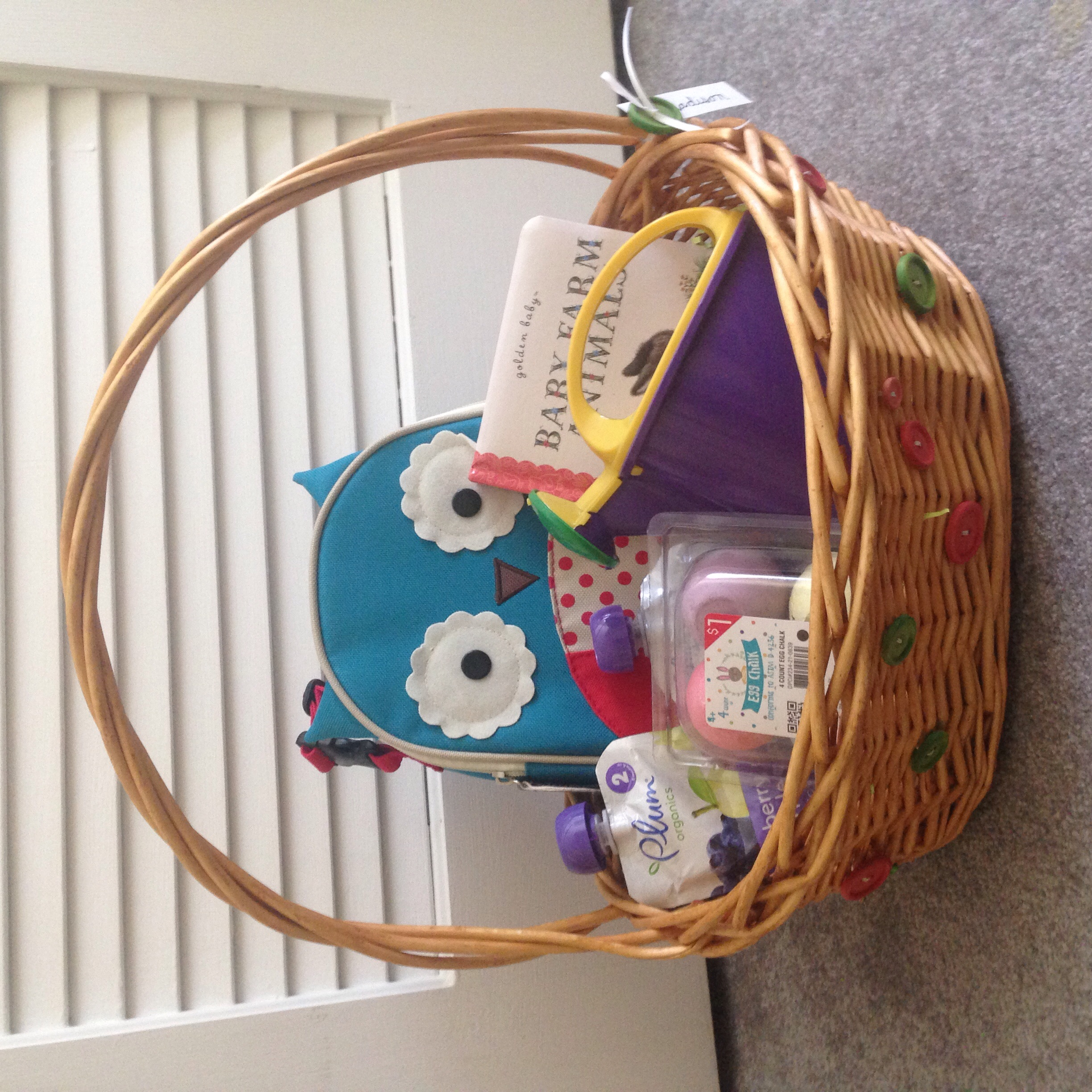 Fun, practical, and cheap Easter Basket for a Toddler
